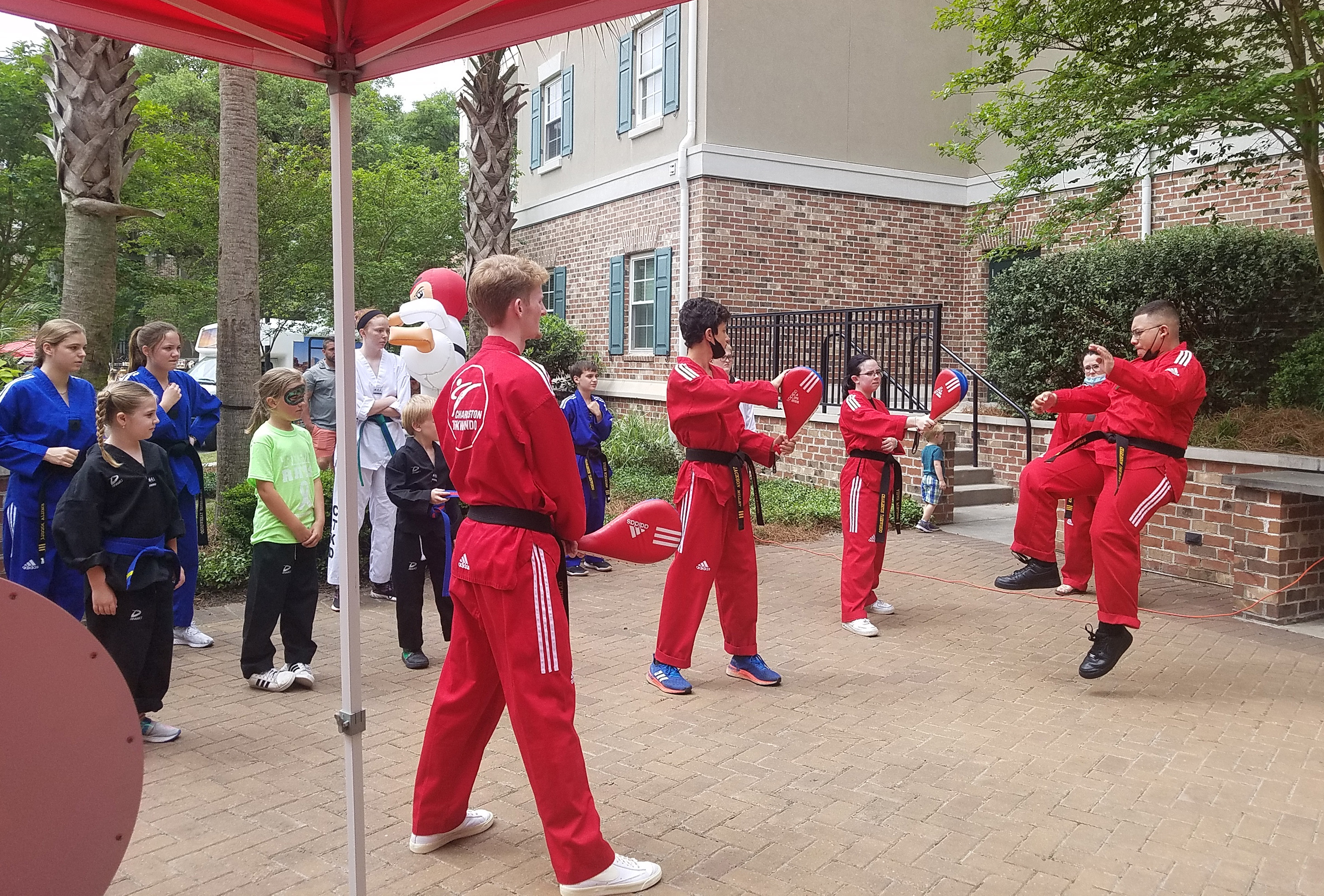 Suzanne Detar - Charleston Taekwondo students performed multiple demonstrations throughout the day.