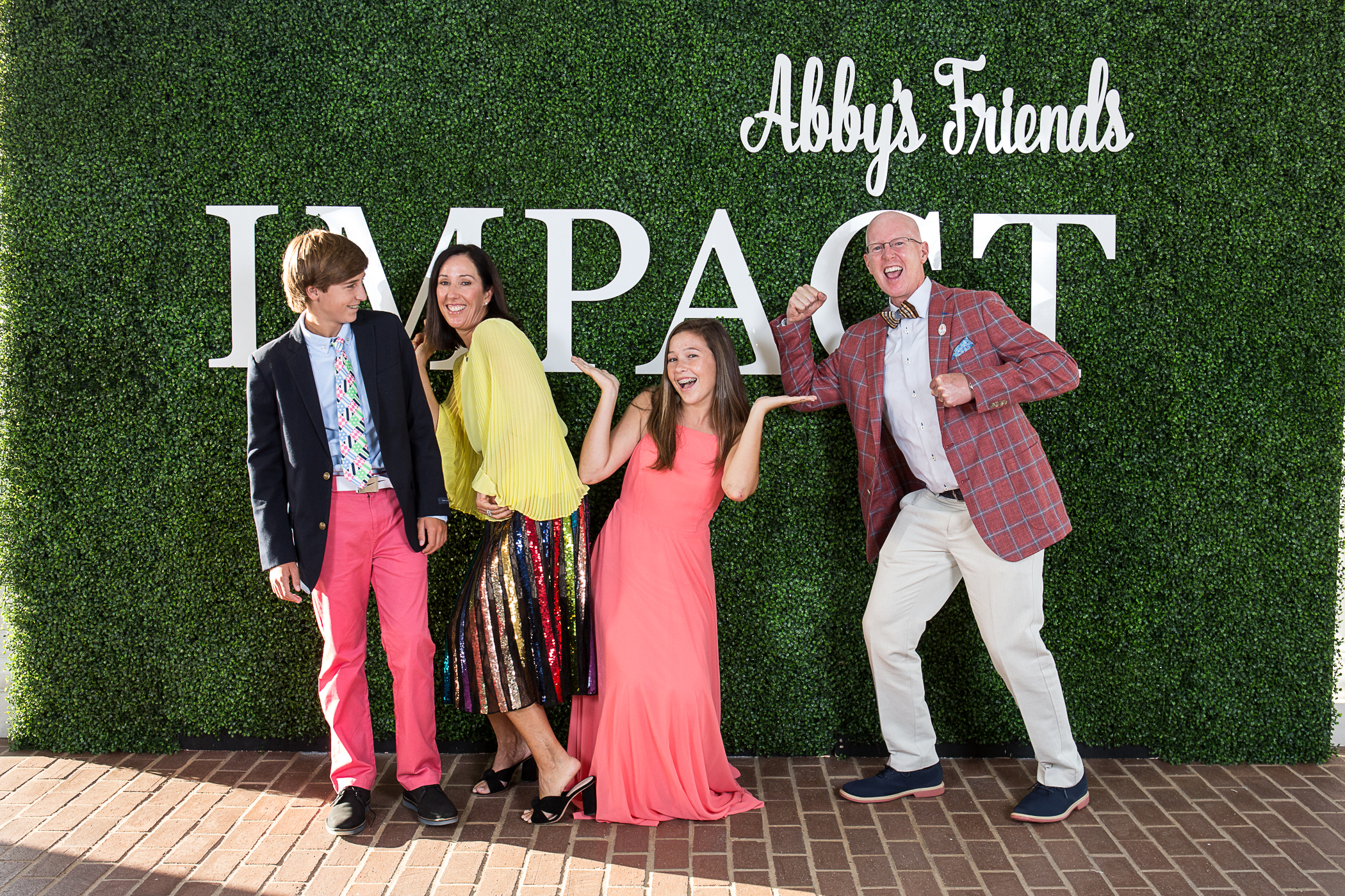 "A family affair! The Sutterlin family from left to right: JD Sutterlin, Kendell Sutterlin, Abby Sutterlin and John Sutterlin. The ""Abby's Friends"" Charity Golf Classic and Gala is named in honor of Abby, 16, who was diagnosed with Type 1 diabetes at age 4."