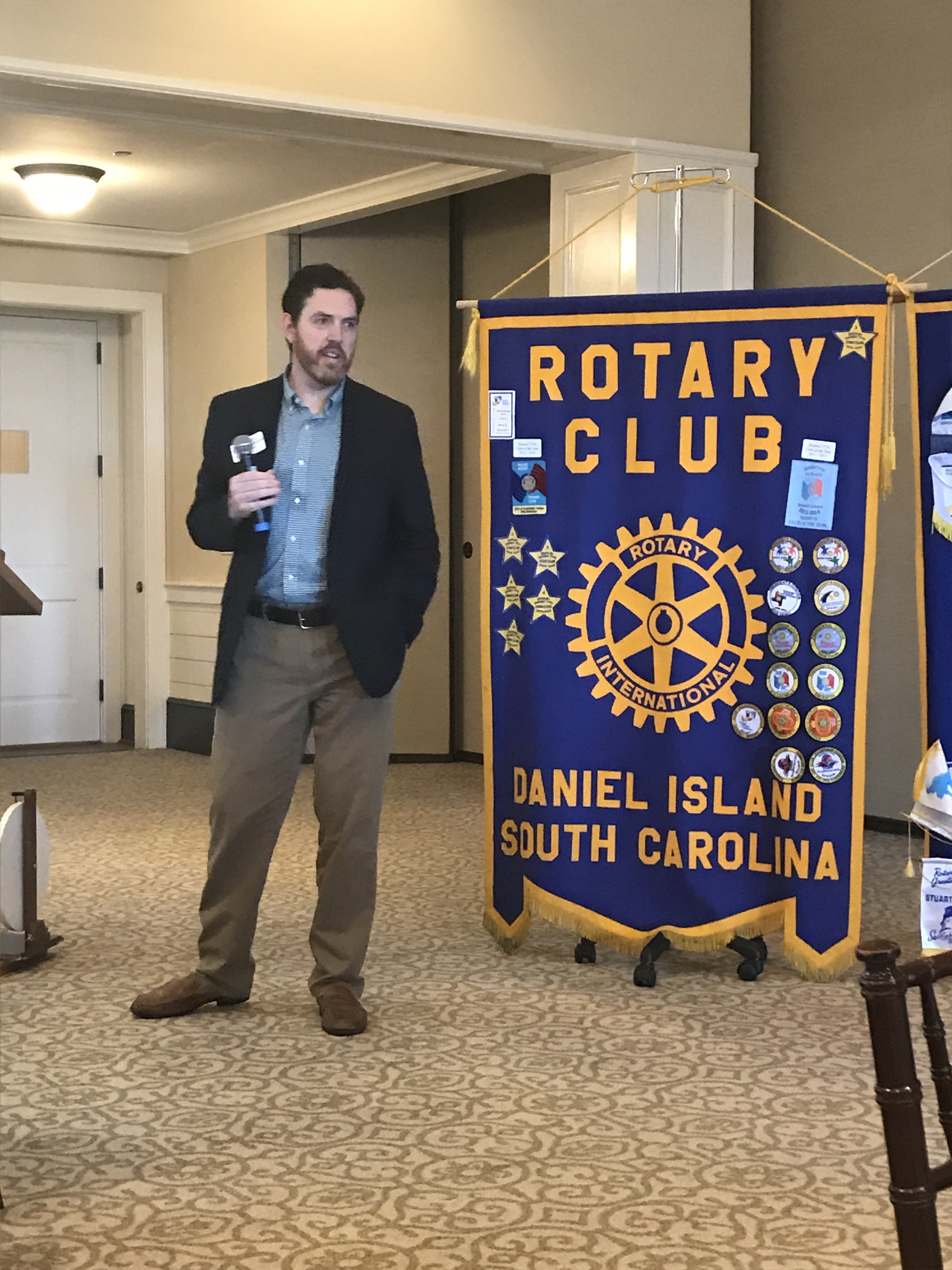 Rotarian Chris Mingledorff, an attorney with Mingledorff & Patterson on Daniel Island, recently served as guest speaker for the club. Mingledorff discussed the importance of estate planning and having a will.