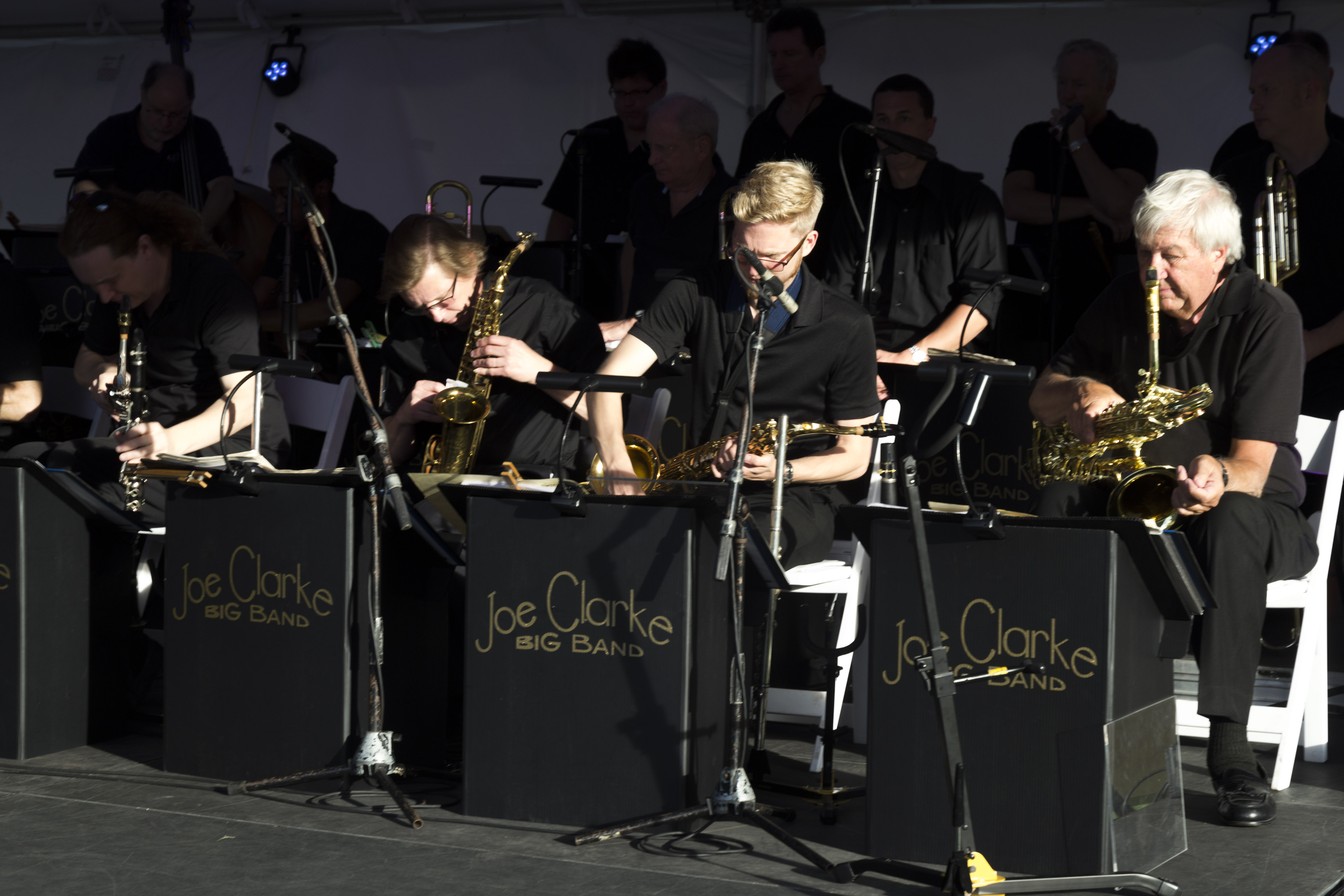 The Joe Clarke Big Band delighted crowds with songs from the 1930s and 40s.
