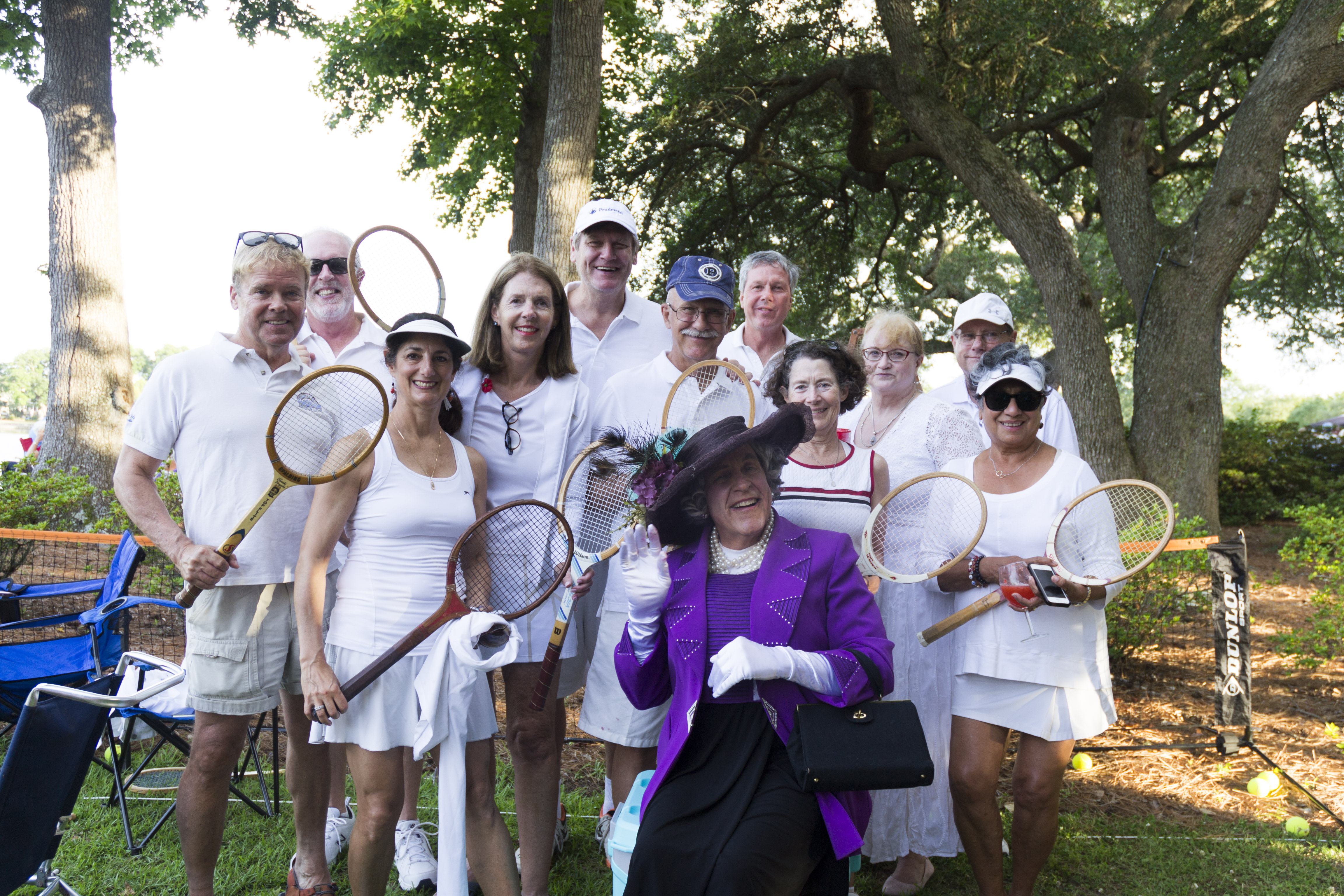 """Fit for a queen! The """"Wimbledon"""" picnic group included a member of the British royal family!"""
