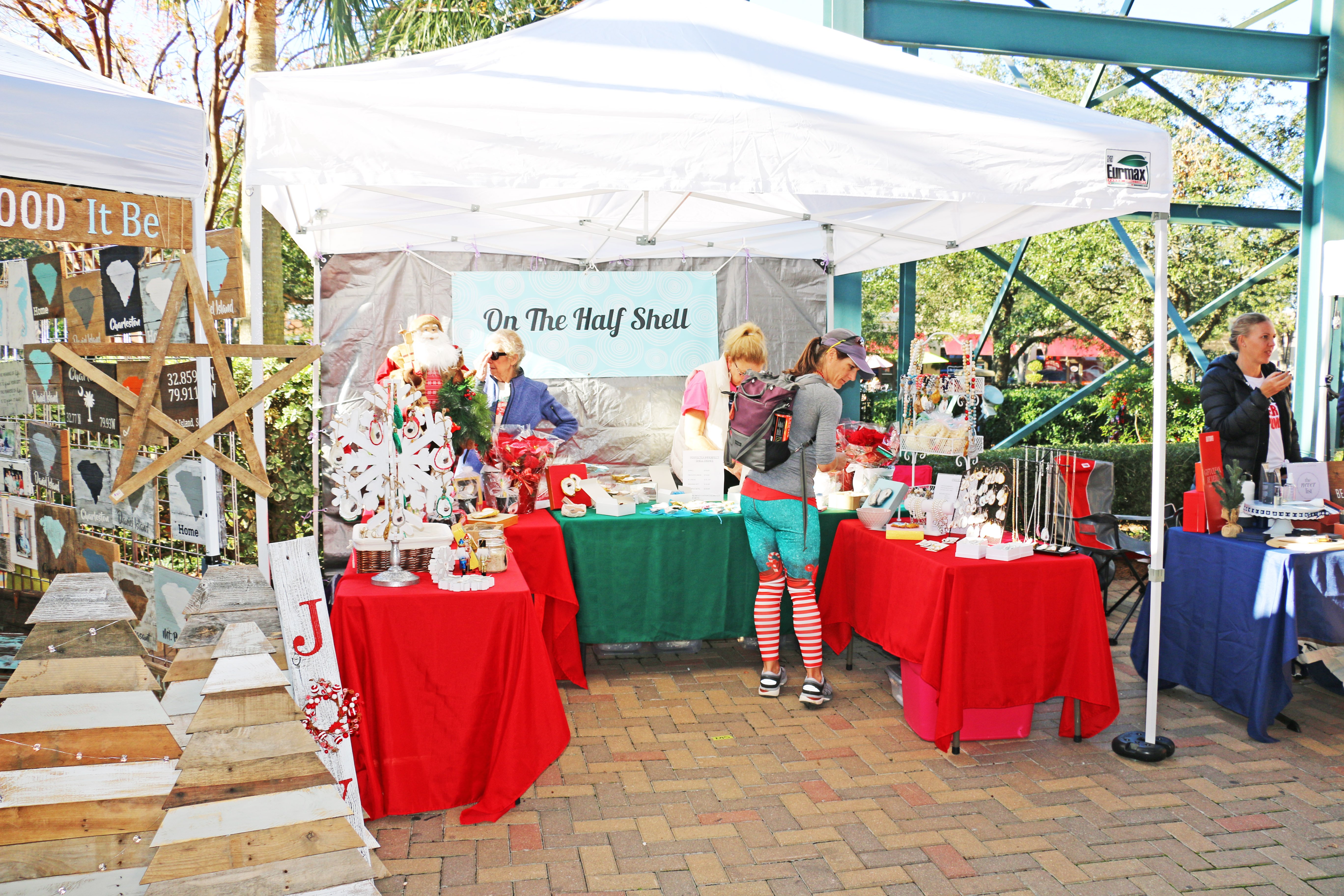 Vendors offered a great selection of gifts and holiday items for those attending the event at Volvo Car Stadium on Daniel Island.