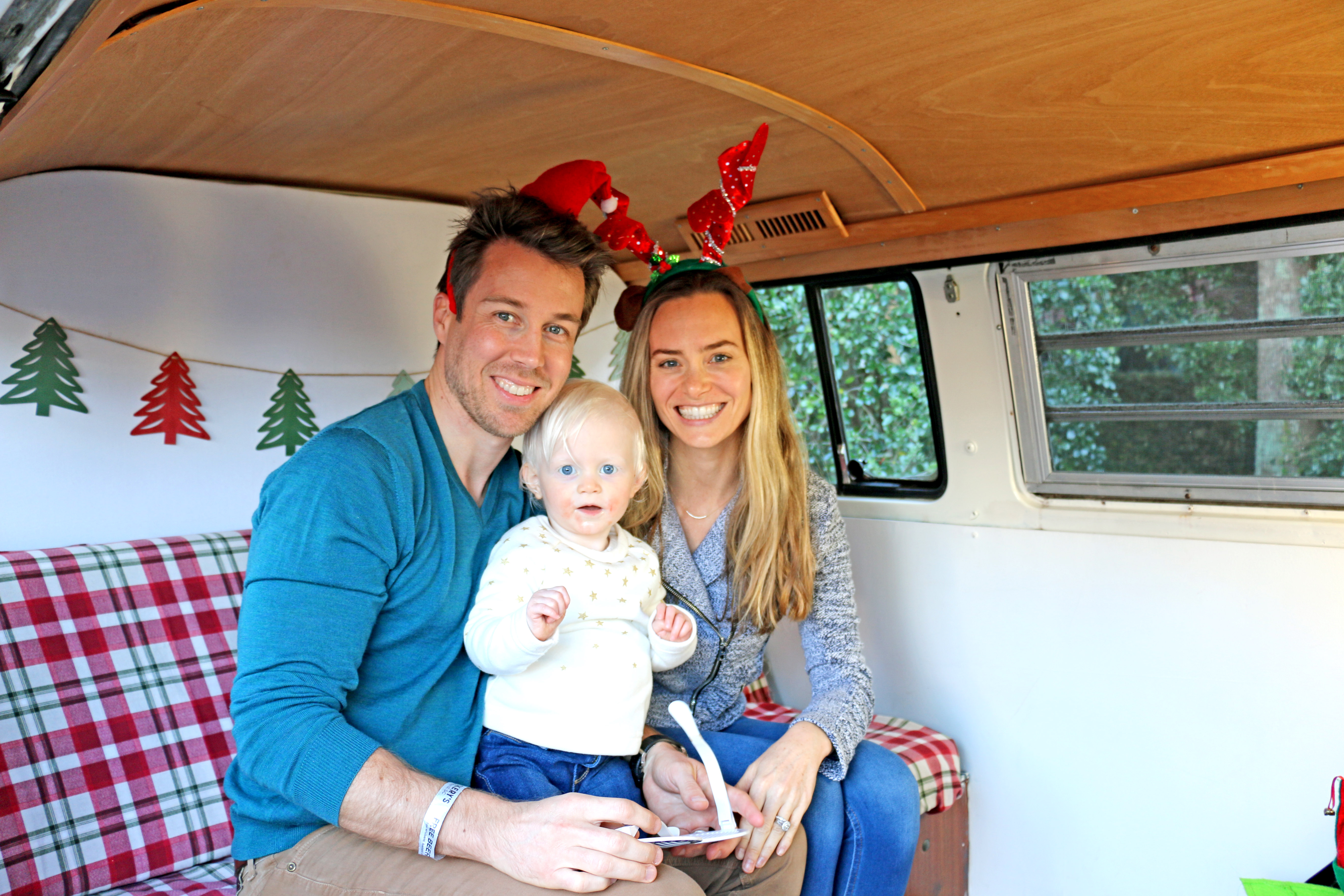 We're the Millers — Bryce, Avery and Jill Miller take an adorable family photo.