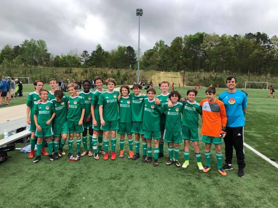 DISA U14 Celtics - Finalists Left to right: Cole Yarbrough, Nate Heineck, Joseph Wenger, Luke Evans, Brady Coupe, Kofi Ayiku, Whit Taylor, Jake Rook, Turner Orvin, Luke Decker, Brogdon Galloway, Tucker Sprofera, Riley Beard, Zach Smear, Nolan Ramirez and Coach Justin Barlotta.