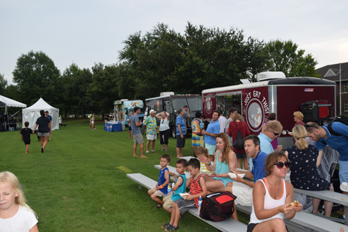 Attendees enjoyed tasty fare from food trucks at the event.