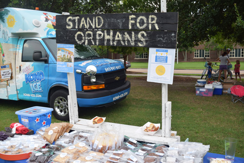 """Stand For Orphans"" was at the event selling baked goods and accepting donations. All proceeds benefit foster care in the Lowcountry."