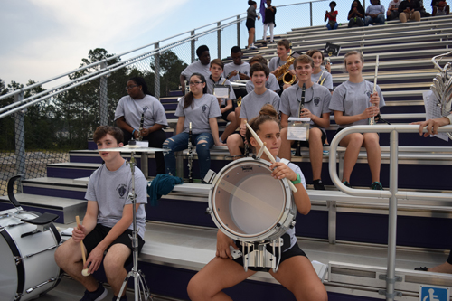 Members of the PSHS pep band kept the crowd entertained with fun and traditional stand tunes!