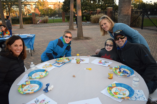Guests enjoyed traditional Jewish food, music and a dreidel station.