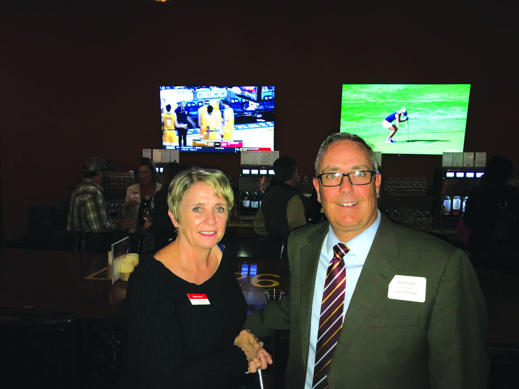 Debbie Berry and Bruce Harper of Synovus Bank and Mortgage Company.