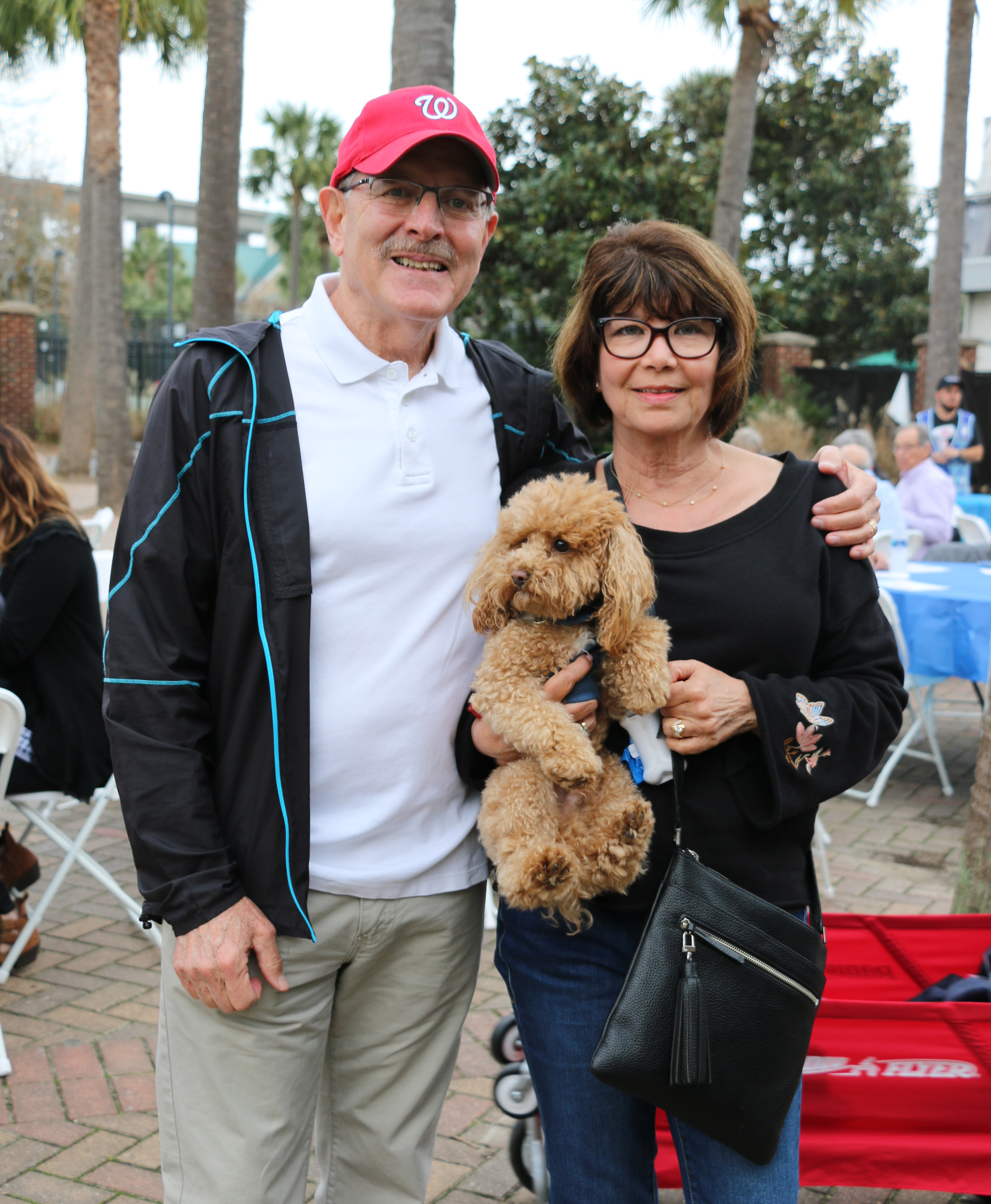 Jeff and Patty Bass brought their grand-dog Choo-Choo to the celebration.