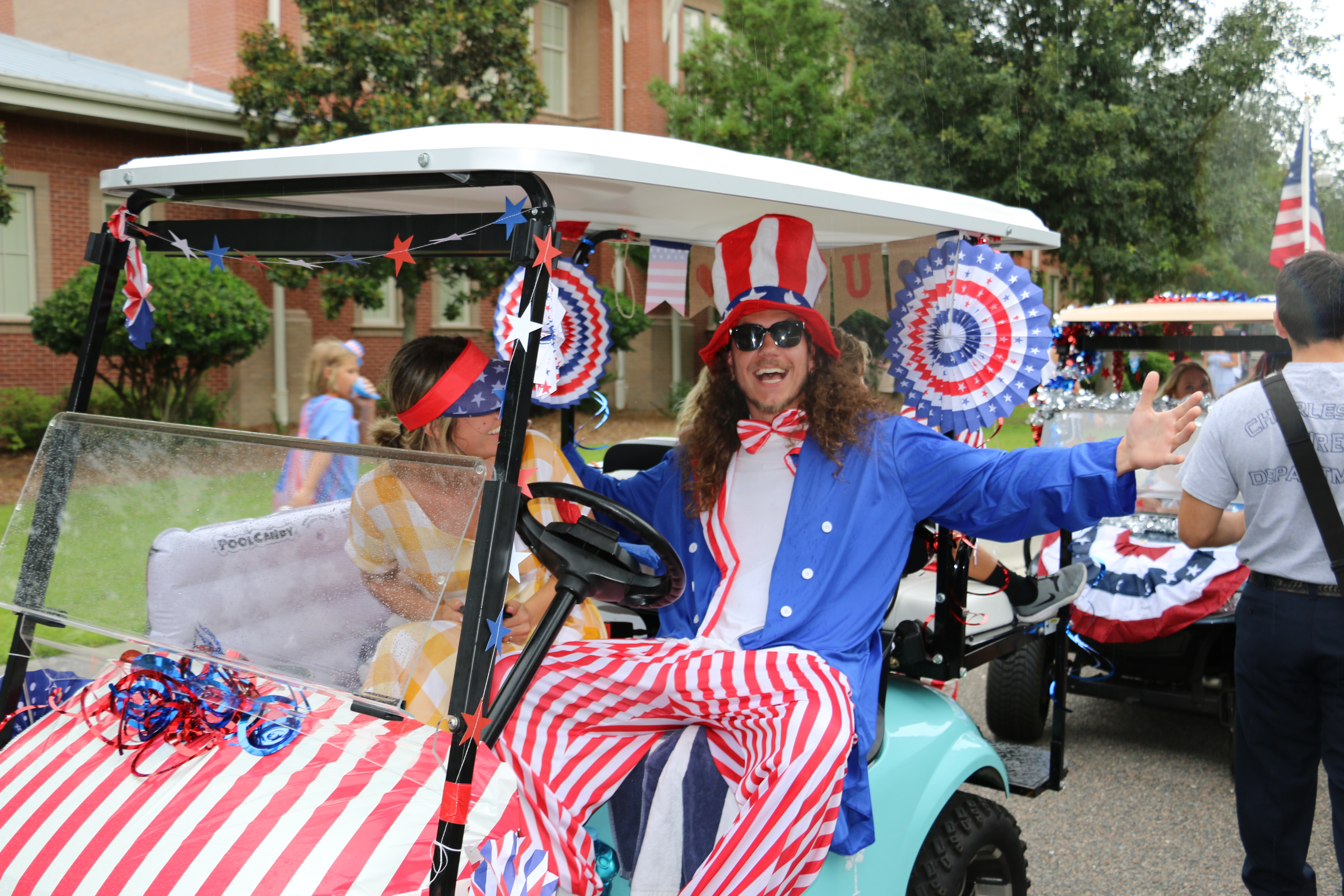The Daniel Island Golf Cart and Bike Parade was held July 2 at the Daniel Island School. Nearly 80 golf carts and 20 bikes participated in the event. Daniel Island residents Brandon and  Brittany Lake won for best decorated cart and Carolina Beaty won for best decorated bike.