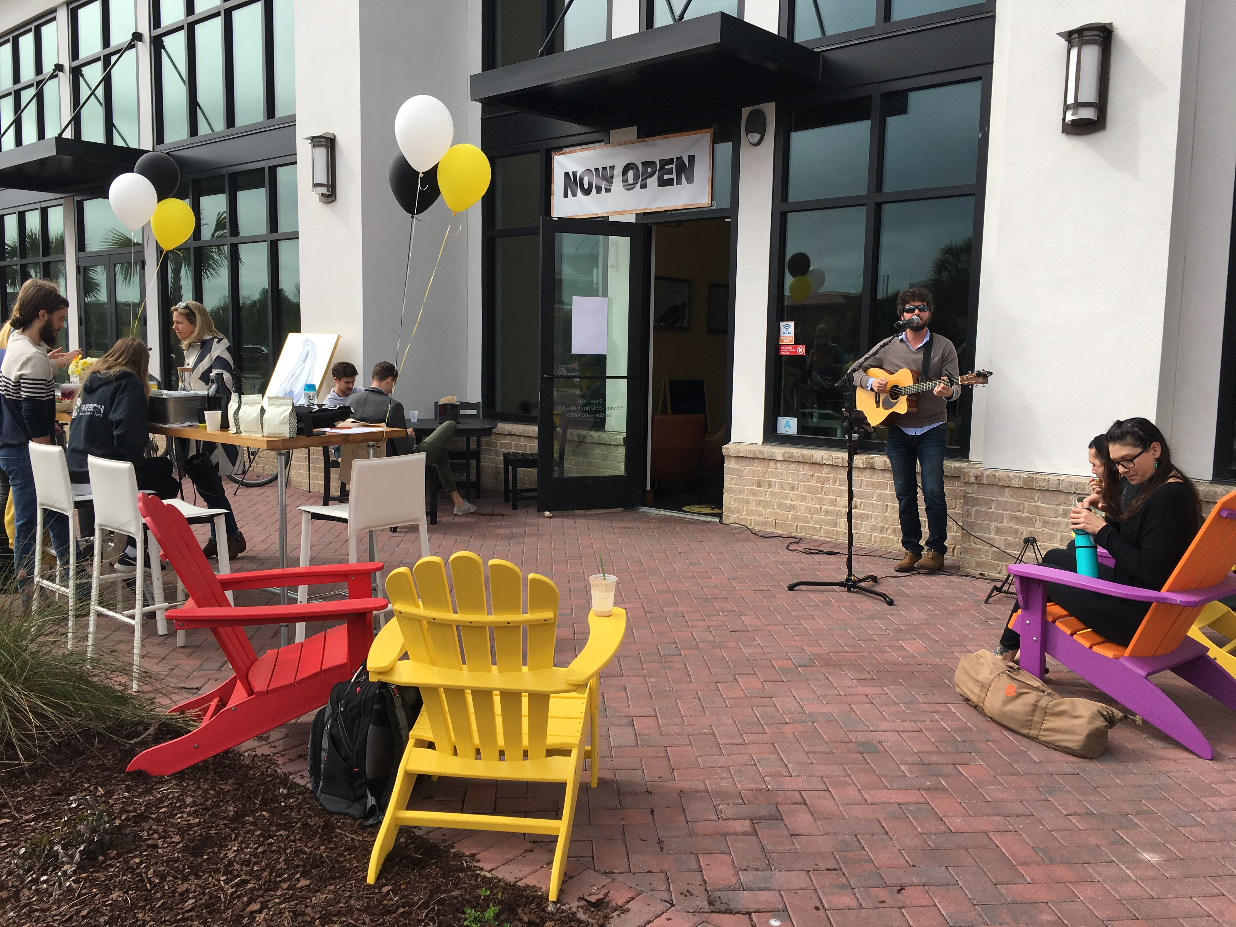 About 200 people stopped in to enjoy free food samples, beverages and music at the BEECH grand opening.