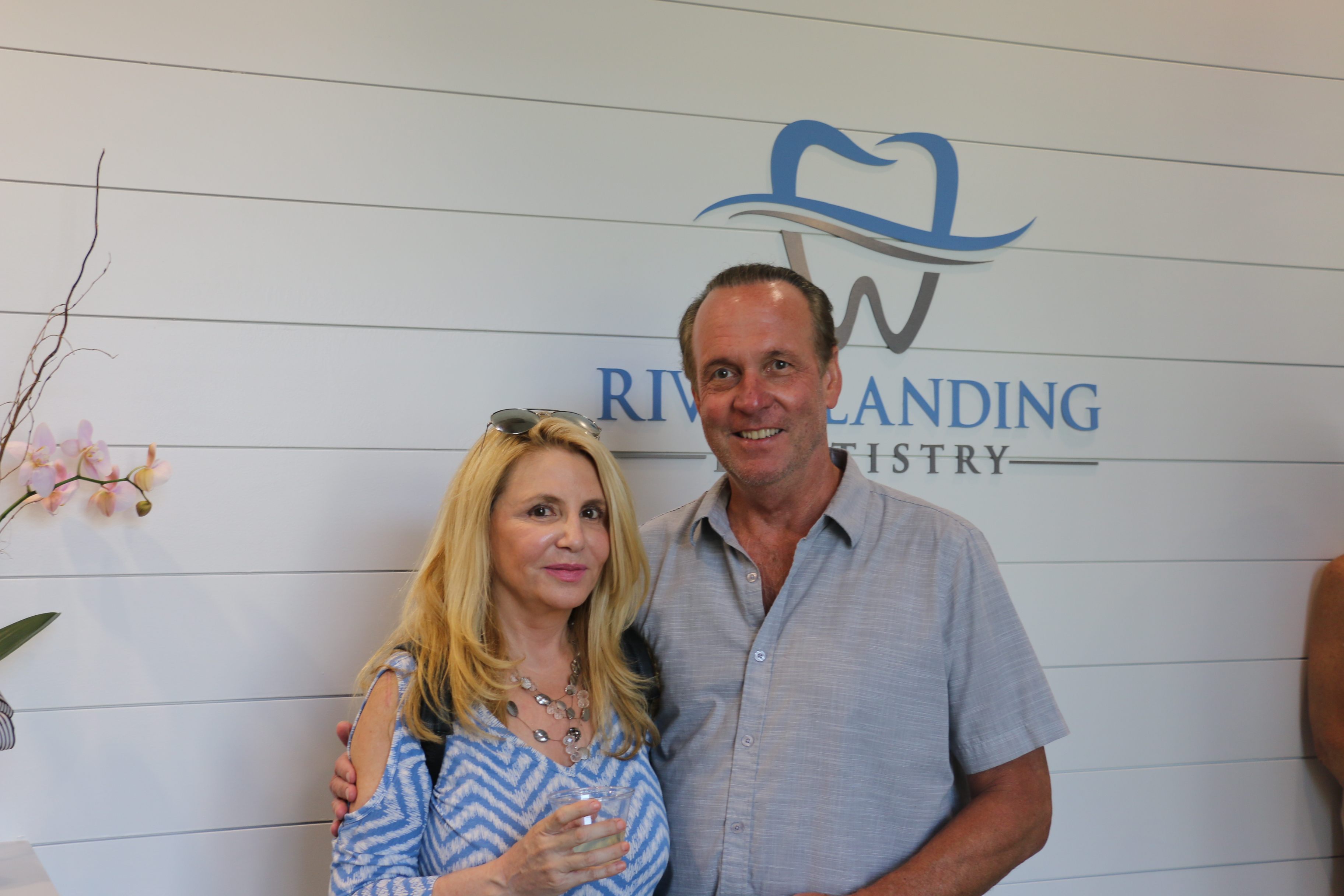 Marie and Stephen Tygh enjoyed the tour of the new office.
