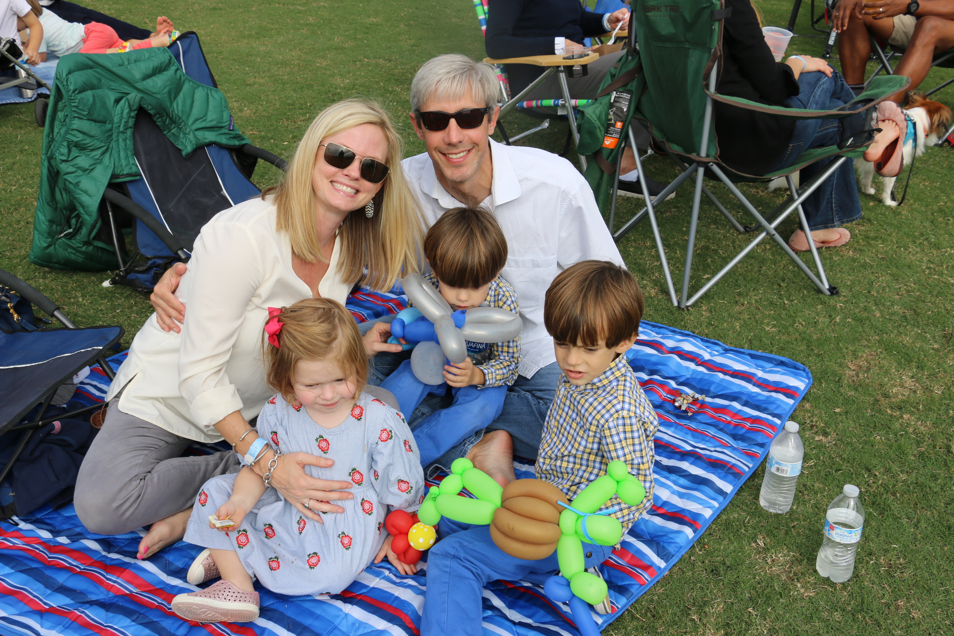 The Angelos family of Mount Pleasant took in the sights and sounds while sampling some of the tasty fare offered by the food trucks.