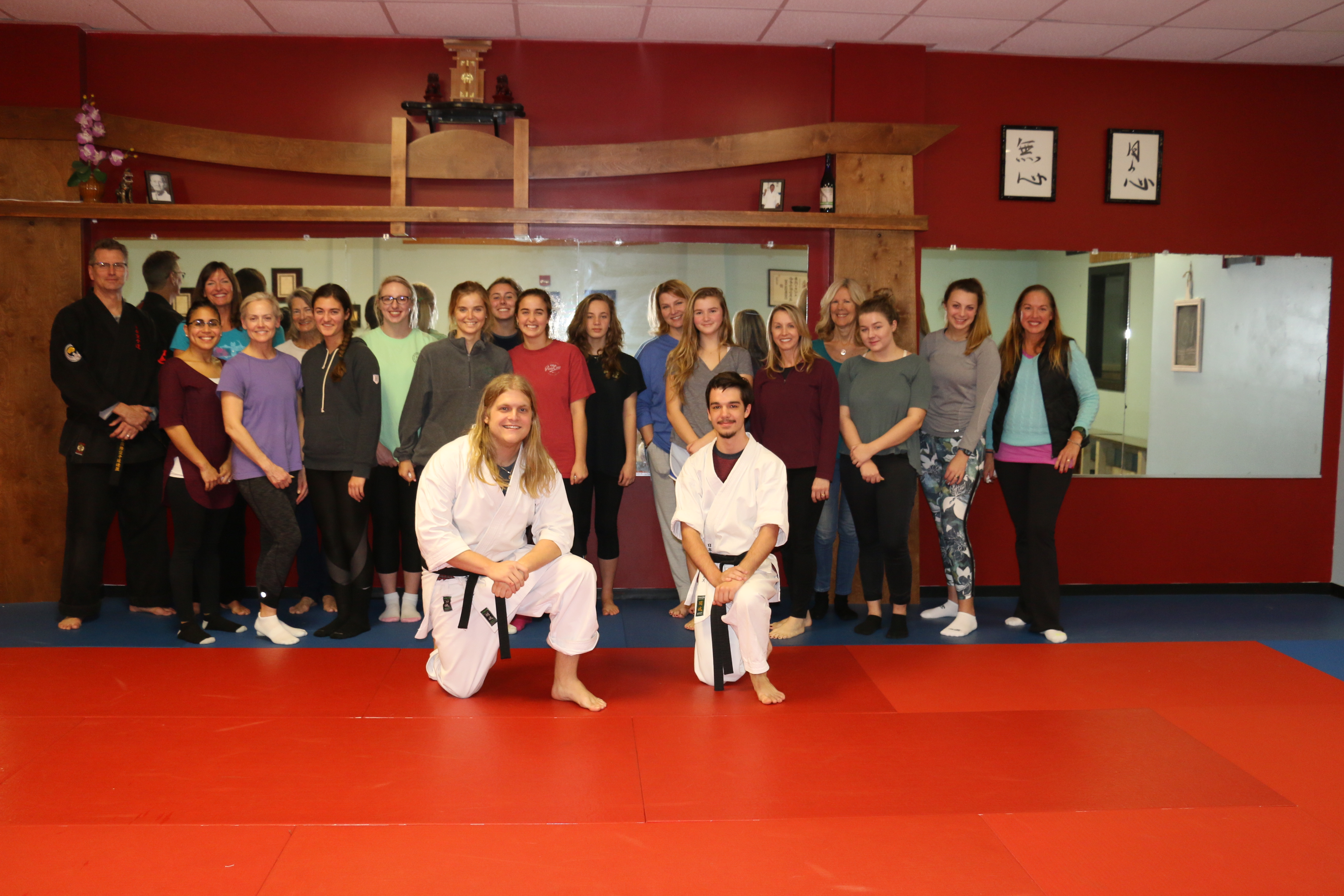 Seventeen local women attended a free women's self-defense seminar last week at the Japan Karate Institute dojo on Daniel Island. The seminar was the first of four planned throughout the year in conjunction with Japan Karate Institute's and The Daniel Island News' 15-year anniversaries. Sensei Glenn (pictured far left) and two of his instructors led the women through various defense techniques, including sharp knuckles, pressure points, eye pokes, escapes and the use of household items. The best self-defense technique: awareness of your surroundings.