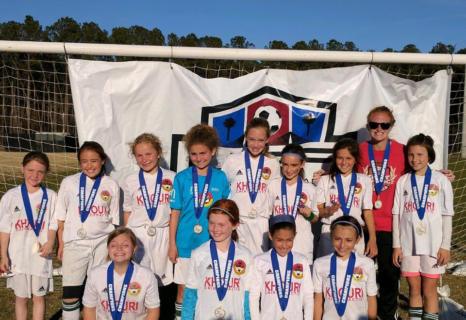 U11 Freedom (DISA) Back row: Maggie Twigg, Cadence Torres, Audra Schaafsma, Lexi Lordi, Maddie Riley, MaryNell Miller, Bella Nava, Coach Alicia Schuler, and Georgie Noding. Front row: Addie McDougall, Renny Miles, Abby Smear, and Eloise Bova.