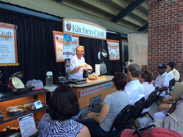 Kitchen Craft cooking show attracts a crowd.