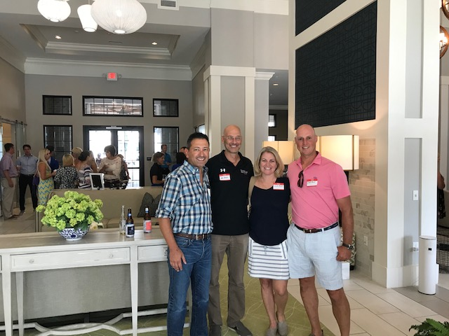 Patrick Villegas of Tabor Mortgage, Jim Jacobs of Flooring Services LLC, Kristen Fleming Arnold of Eastcoast Marketing LLC, and Charlie Arnold with REI Engineers.