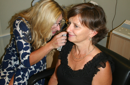 Dr. Esse provided hearing tests at the September Live a Better Lilfe event.