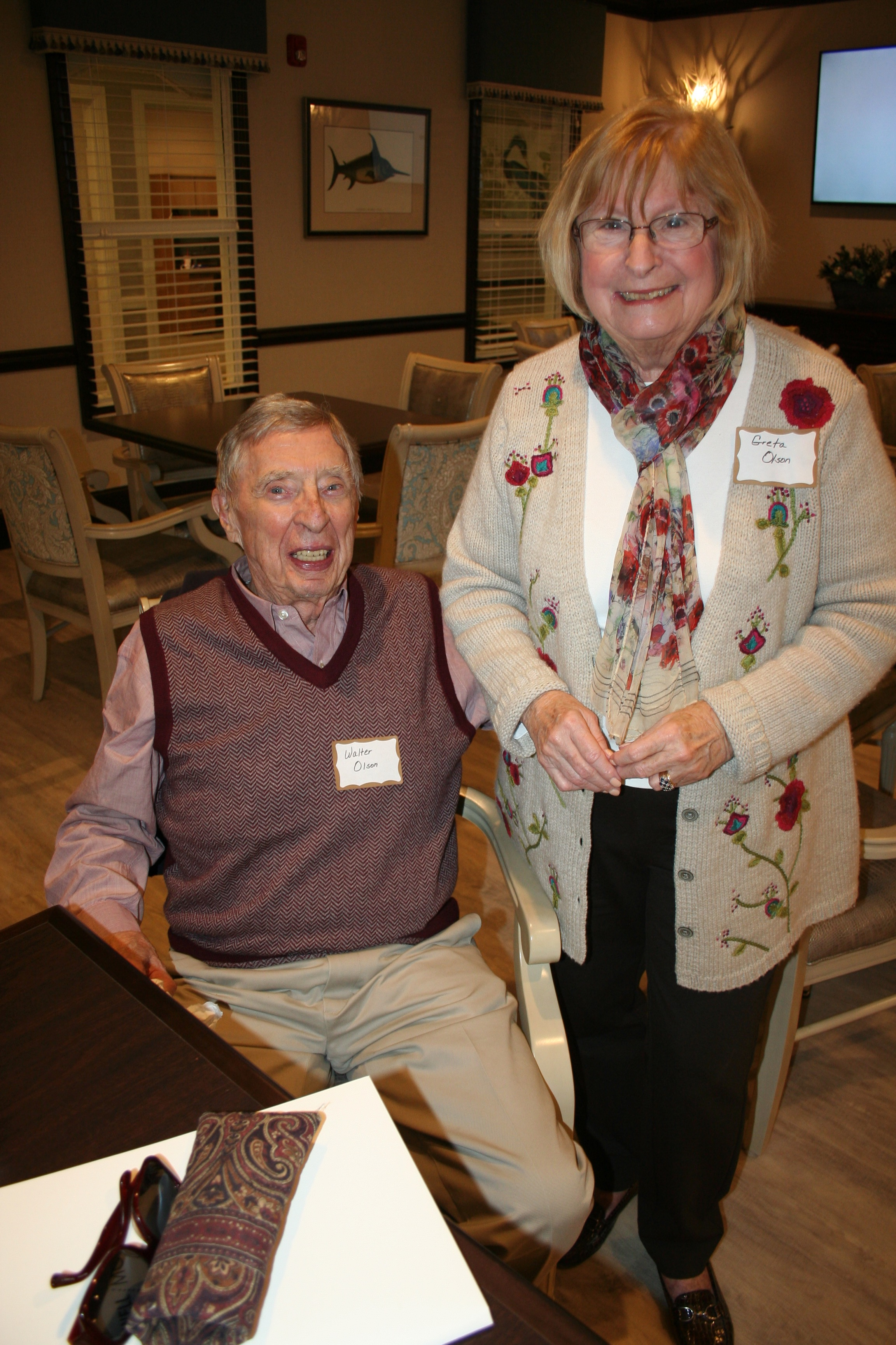 Daniel Island residents Walter and Greta Olson stopped in to learn more about the new facility.