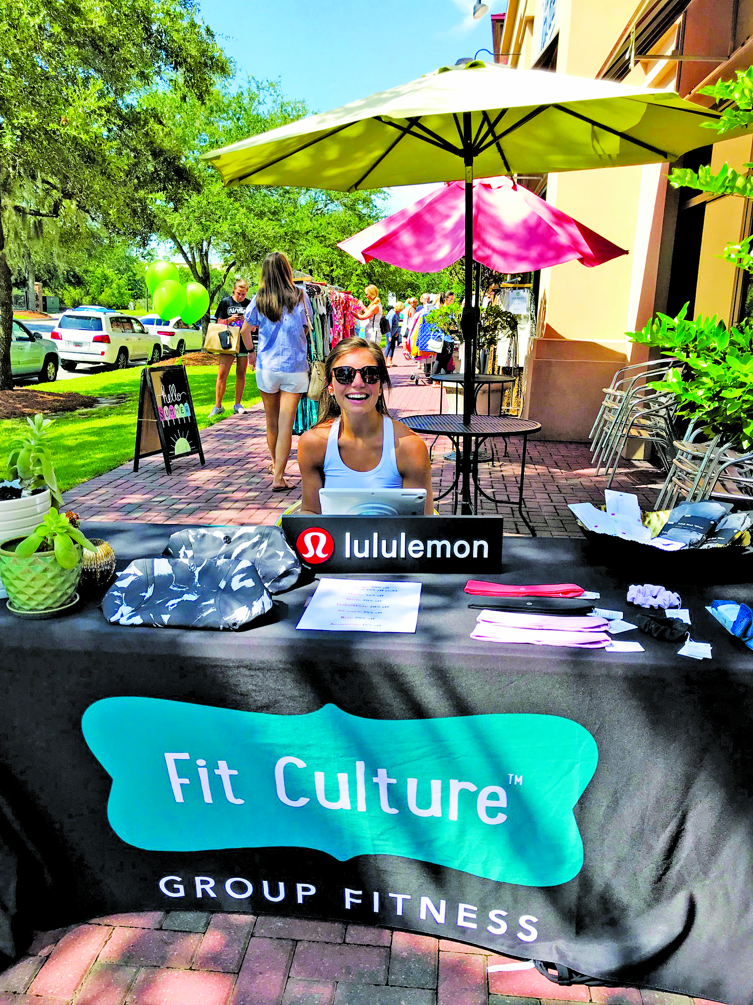 Meredith Downer of Fit Culture greeted her customers with a welcoming smile!