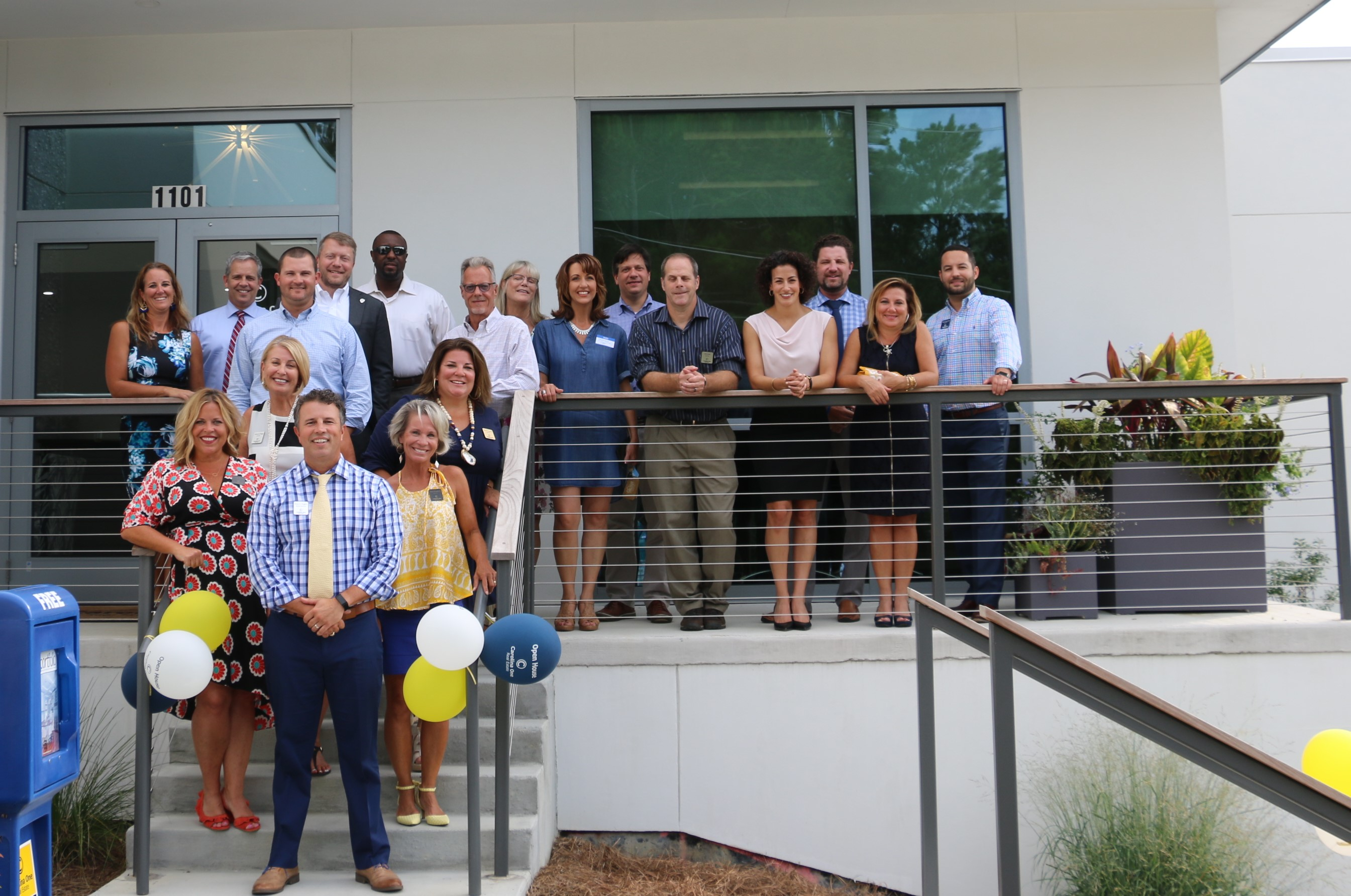 Those attending the packed gathering, which was catered by Dockery's of Daniel Island, included agents who will serve out of the new location and other guests.