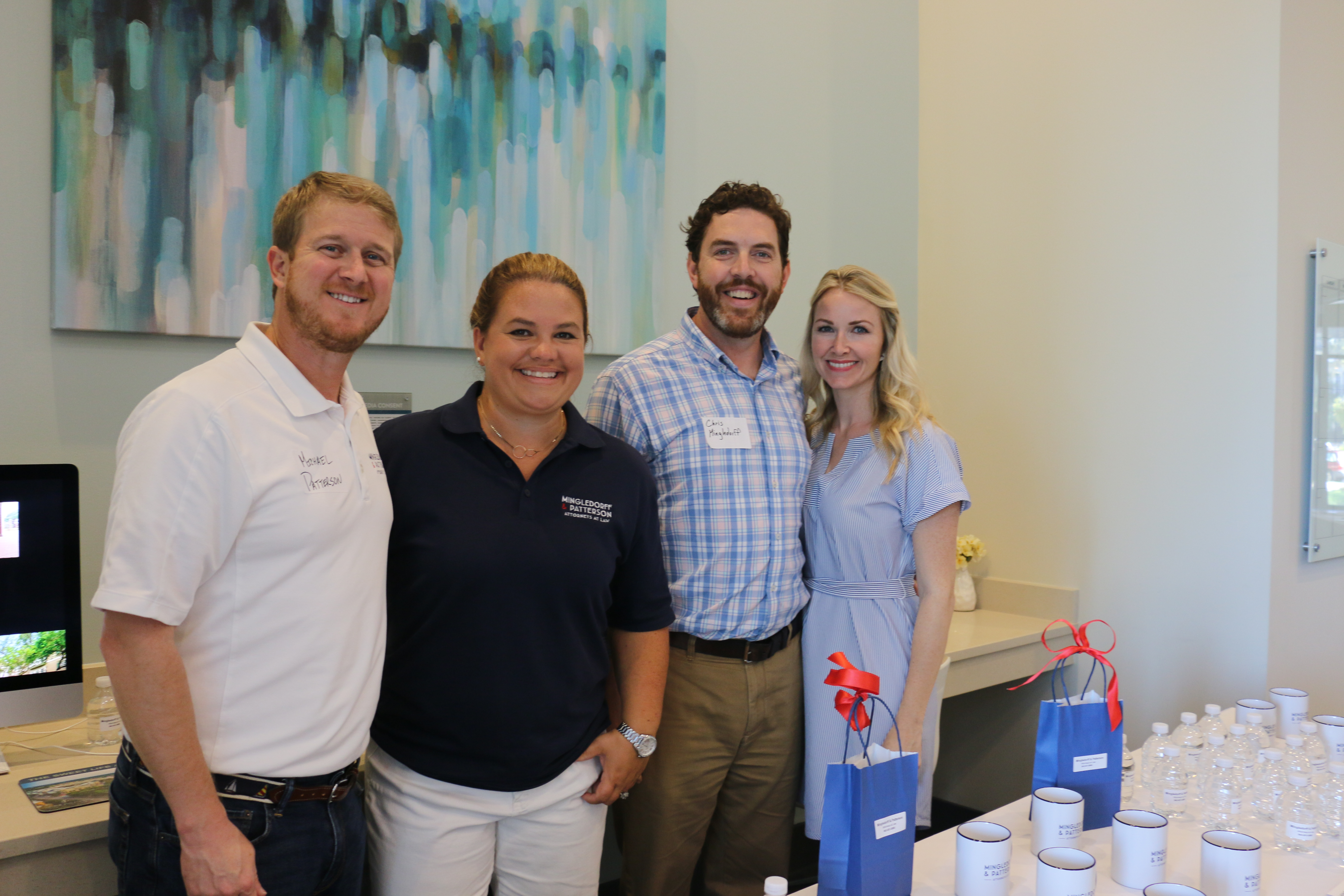 Mingledorff & Patterson, Attorneys at Law, were the featured sponsor at the Block Party. Pictured left to right: Michael Patterson, Sarah Patterson, Chris Mingledorff and Emily Mingledorff.