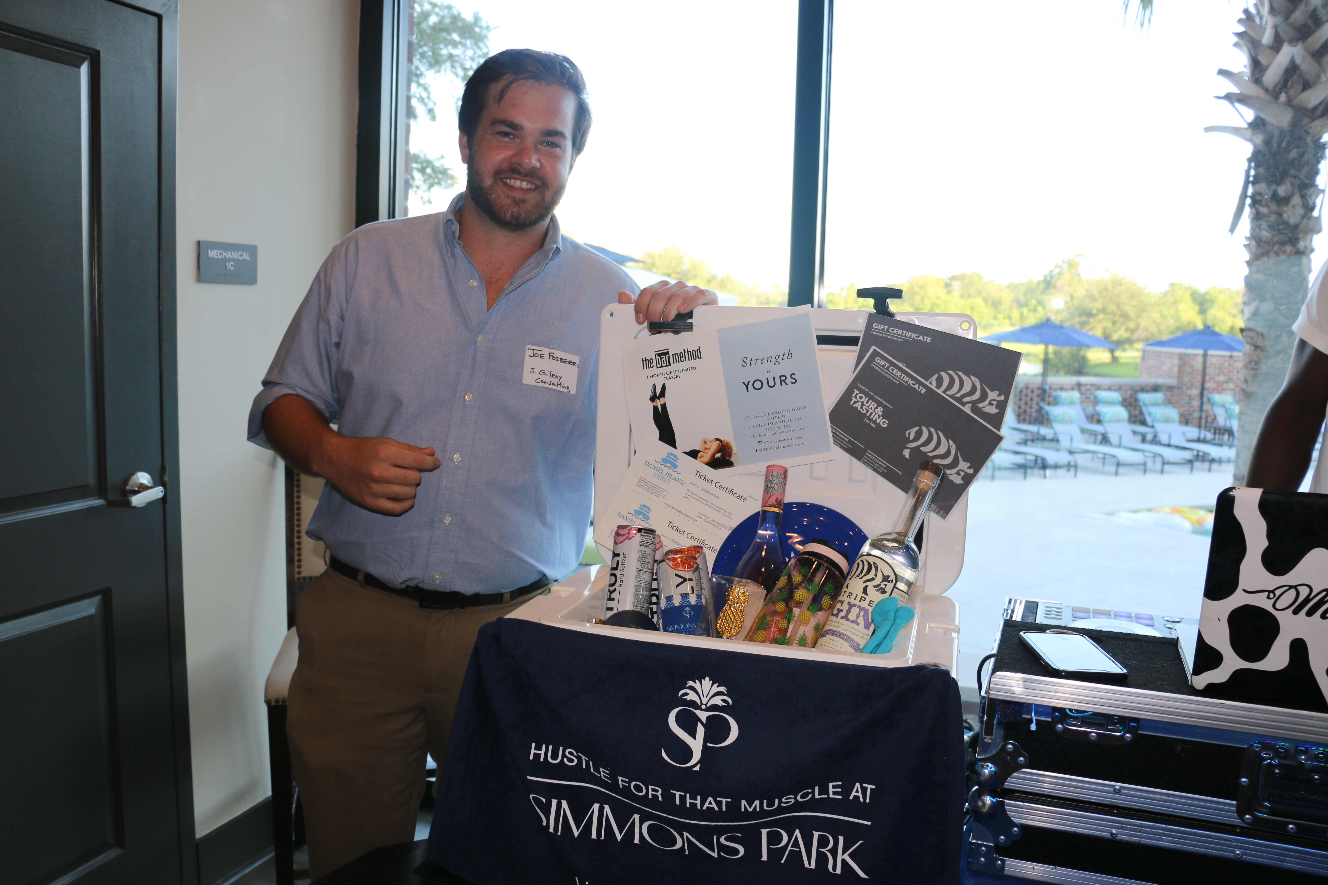 Raffles are always a fun part of the evening – this month's big winner was Joe Fosberry of Stacy Gilroy Consulting.