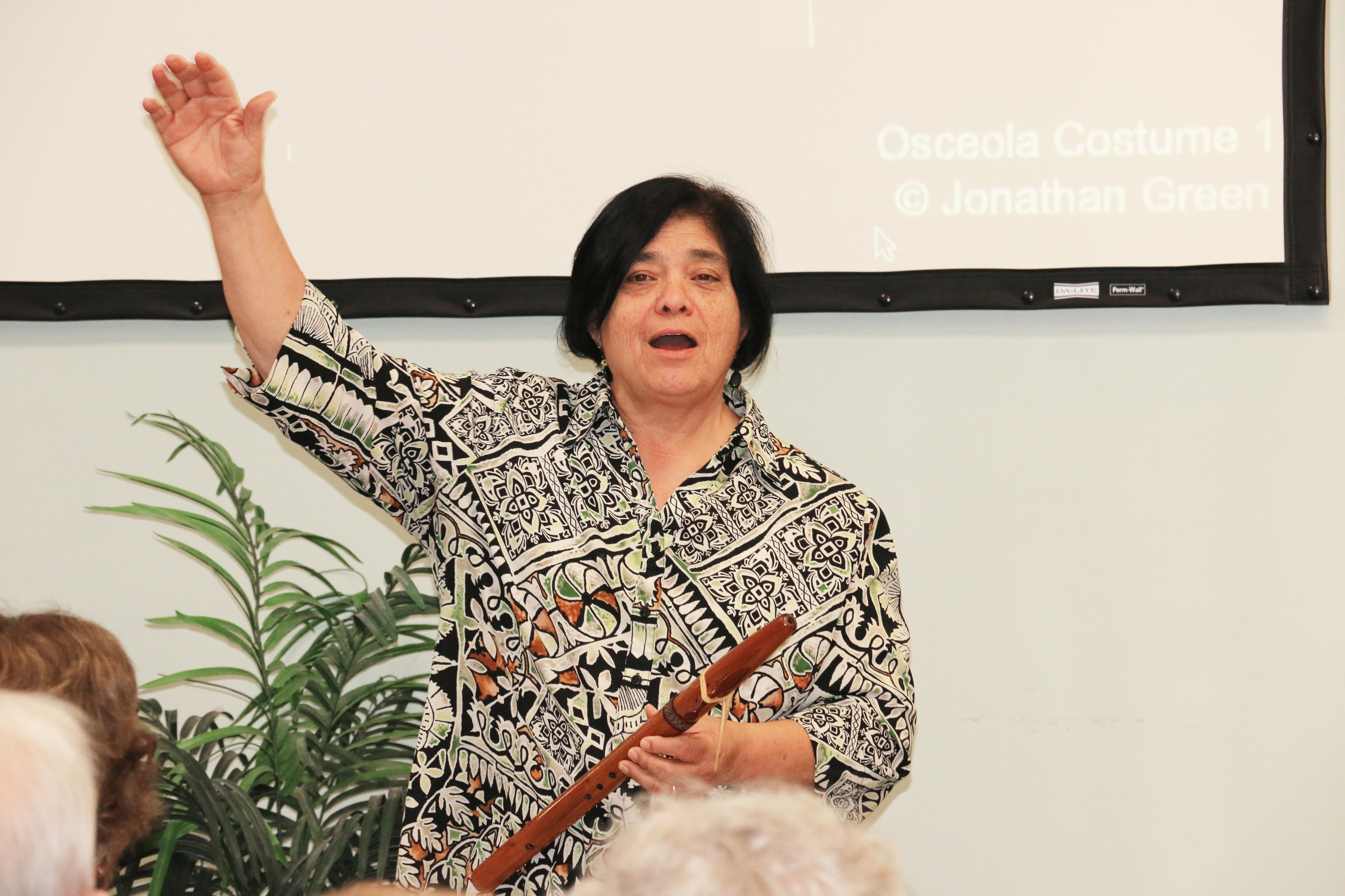 """Flutist Delia Chariker plays some of the Native American-inspired music that will be featured in """"Osceola's Muse."""""""