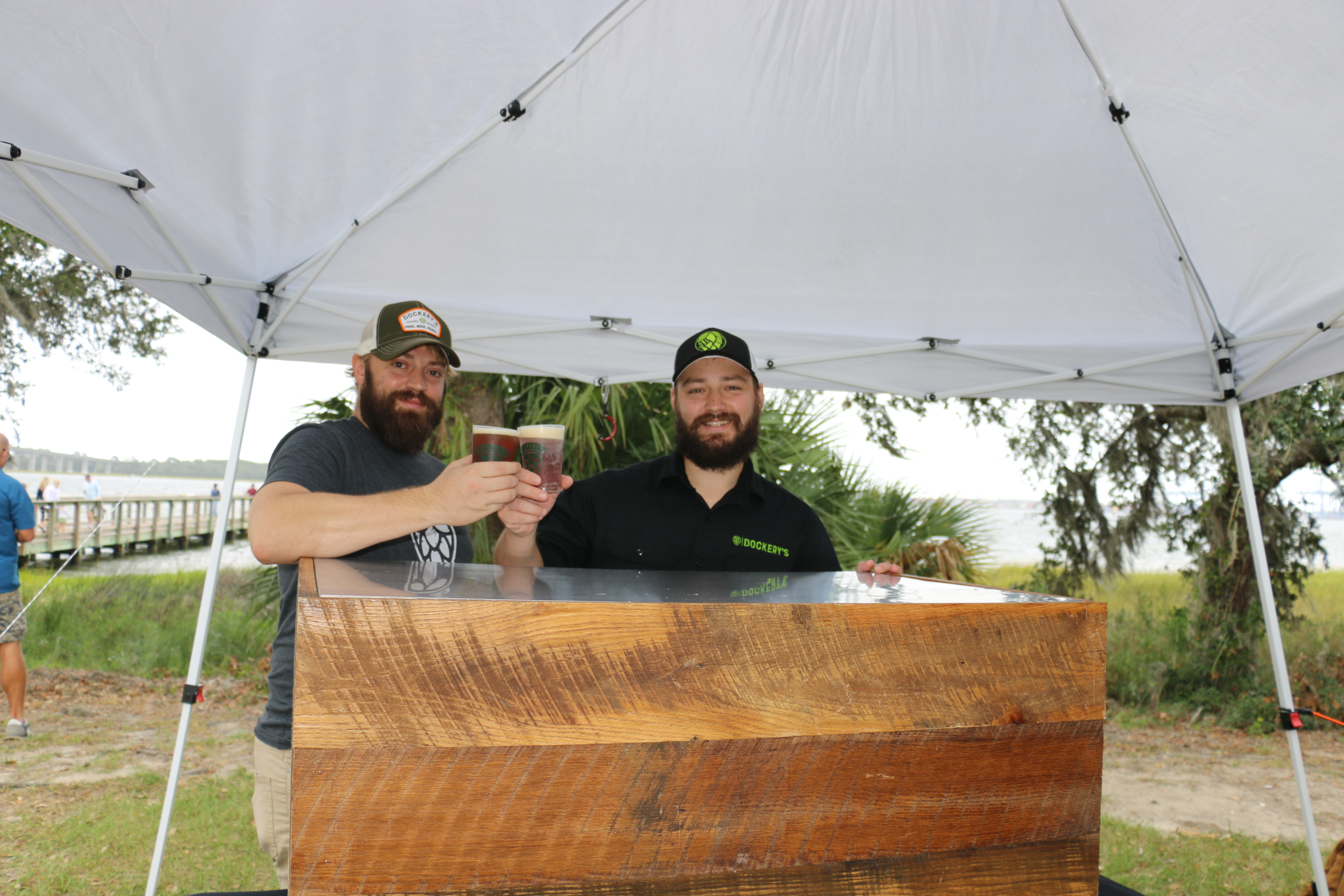 Alex Winney and Greyson Cato serve up a specialty brew from Dockery's.