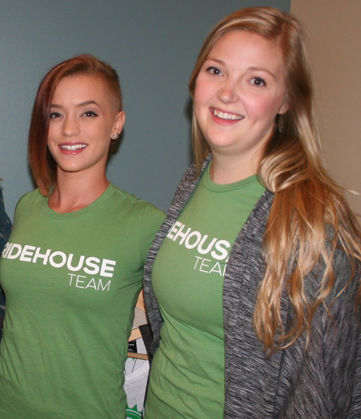 Jenna Asher and Brittany Williams manned a booth for Ridehouse.