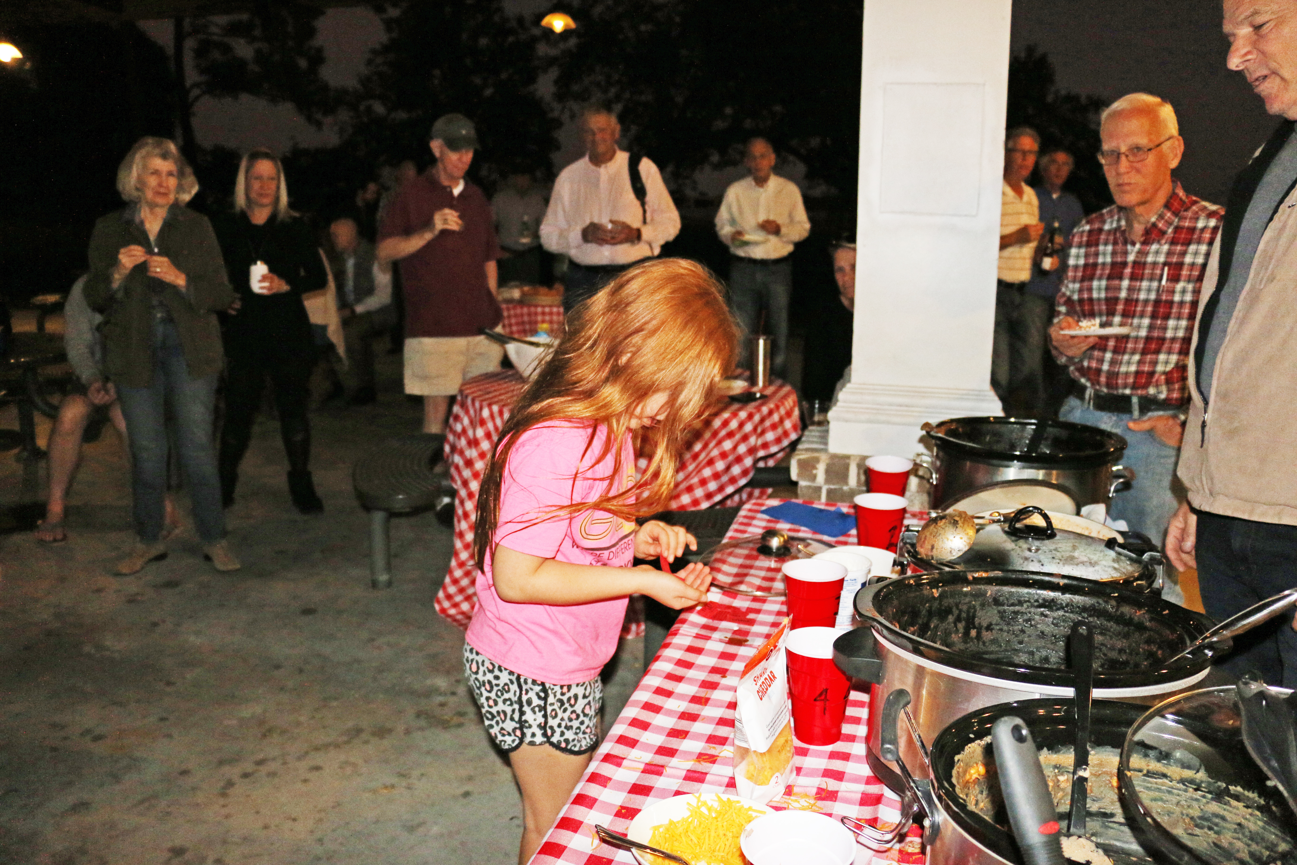 At the Daniel Island Rotary Club's Chili Cook-Off, Caroline O'Connor counted each vote to determine which Rotarian made the best chili. The second annual event was held Wednesday, Oct. 23, at Pierce Park Pavillion.