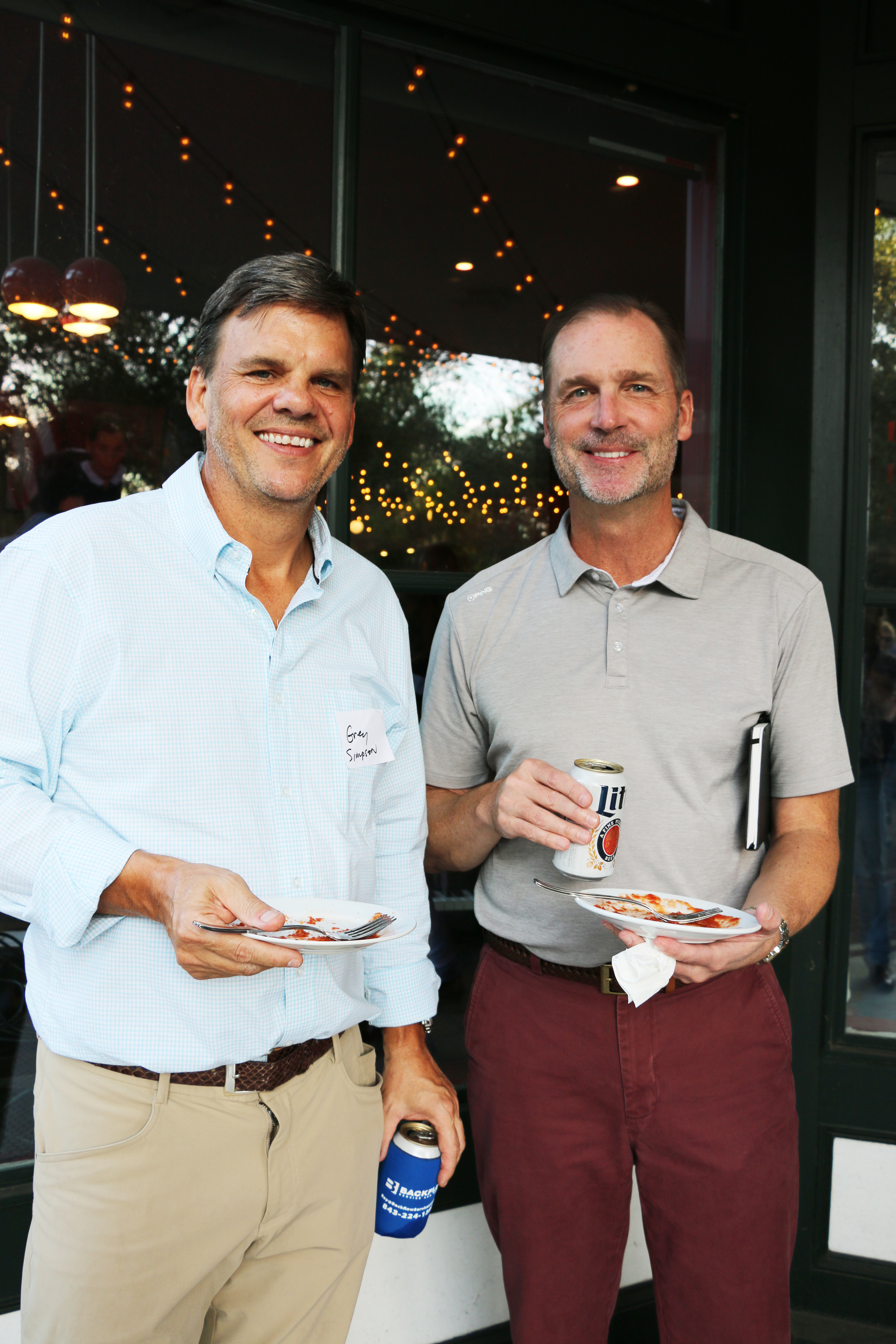 Greg Simpson and Bob Reich of Mother Mary's Cleaning Service were block party sponsors.