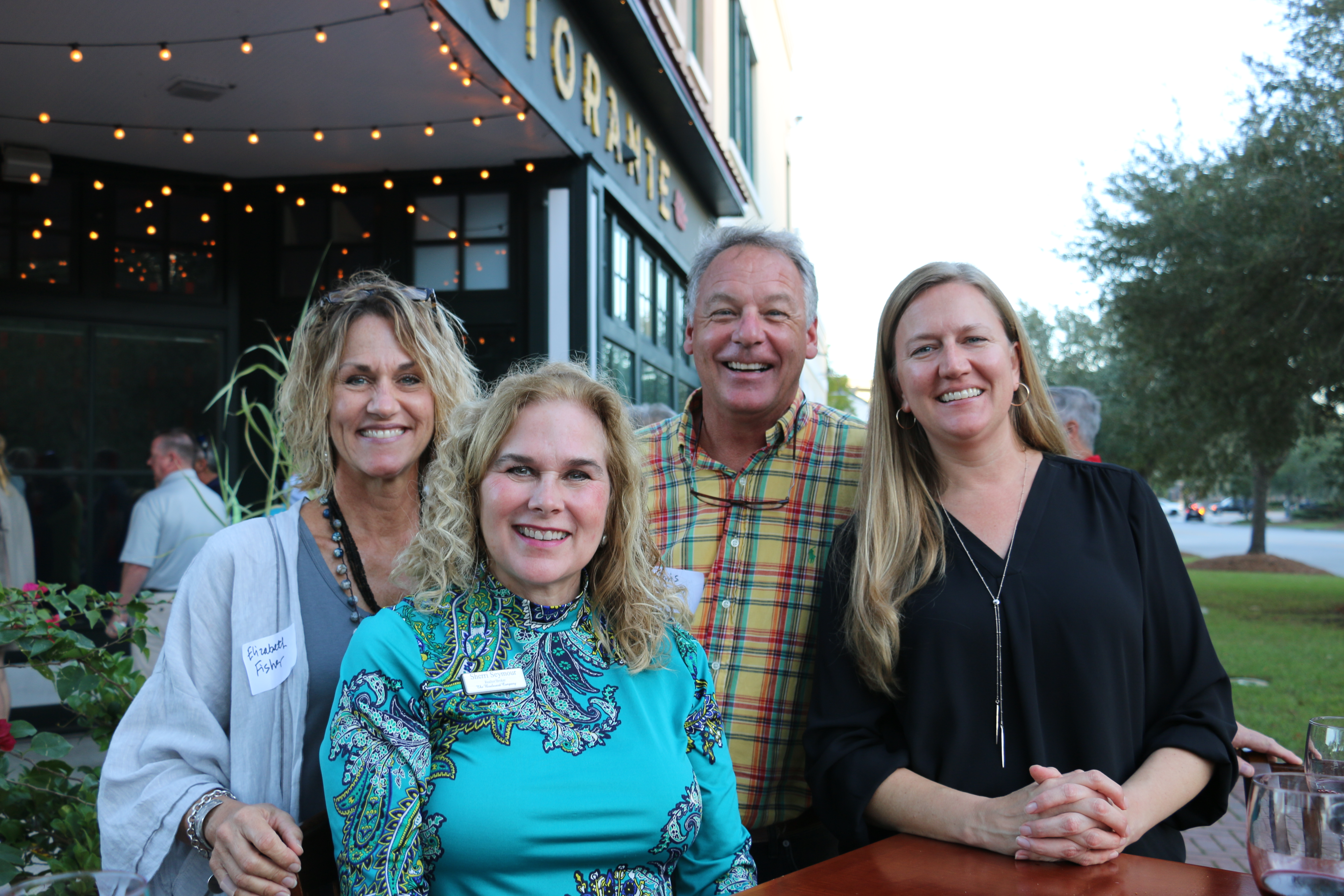 The Daniel Island Business Association (DIBA) held its monthly block party for members and guests at Ristorante LIDI. Among those enjoying a beautiful evening on the patio were, from left, Elizabeth Fisher, Sherri Seymore, Chris Fisher and Samantha Meinders.