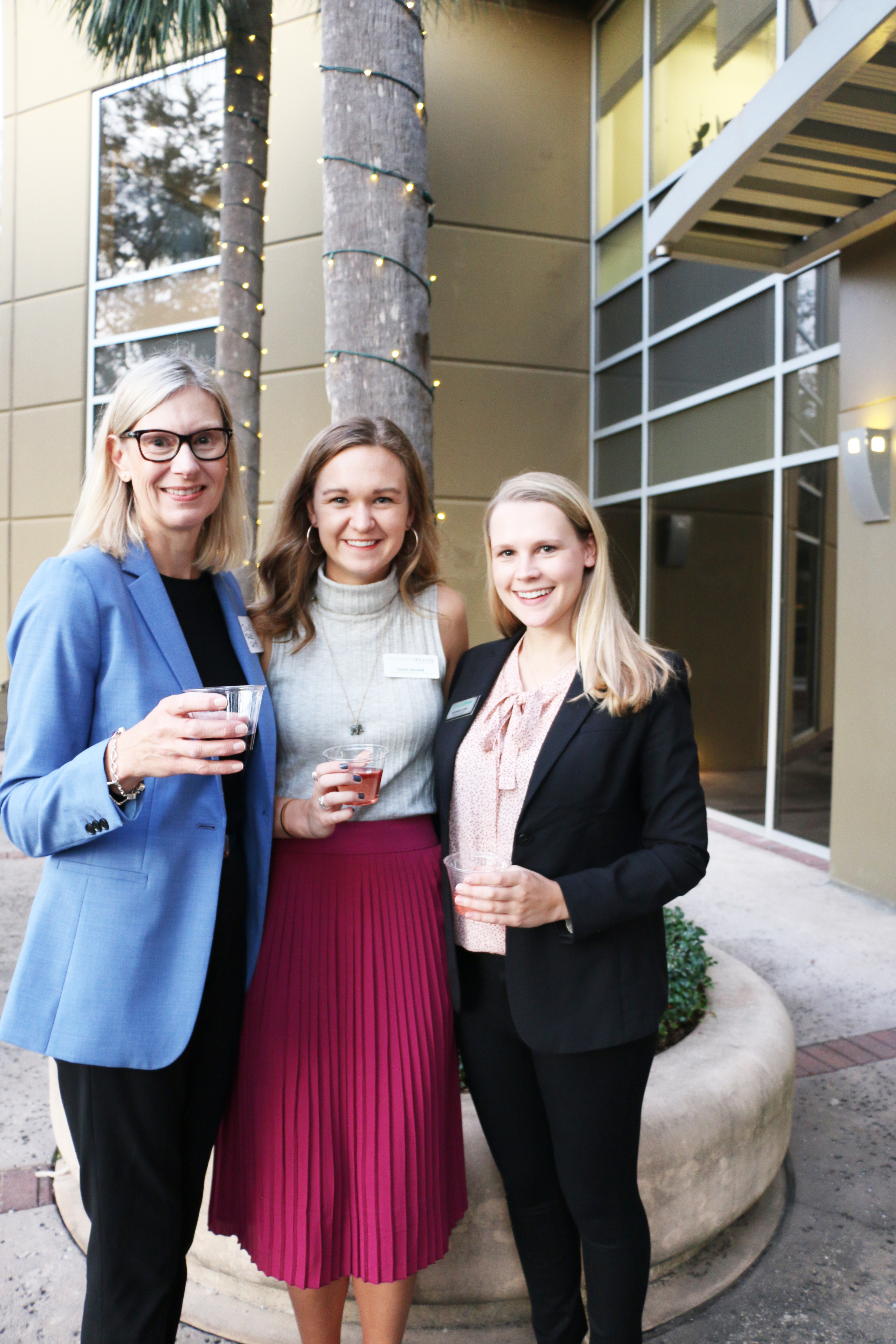 Julie Regenold of Trade Gate Finance, Haley Kramer of Commonwealth Financial, and Hannah Long of Edward Jones are the organizers of the AWE Networking Group on Daniel Island.