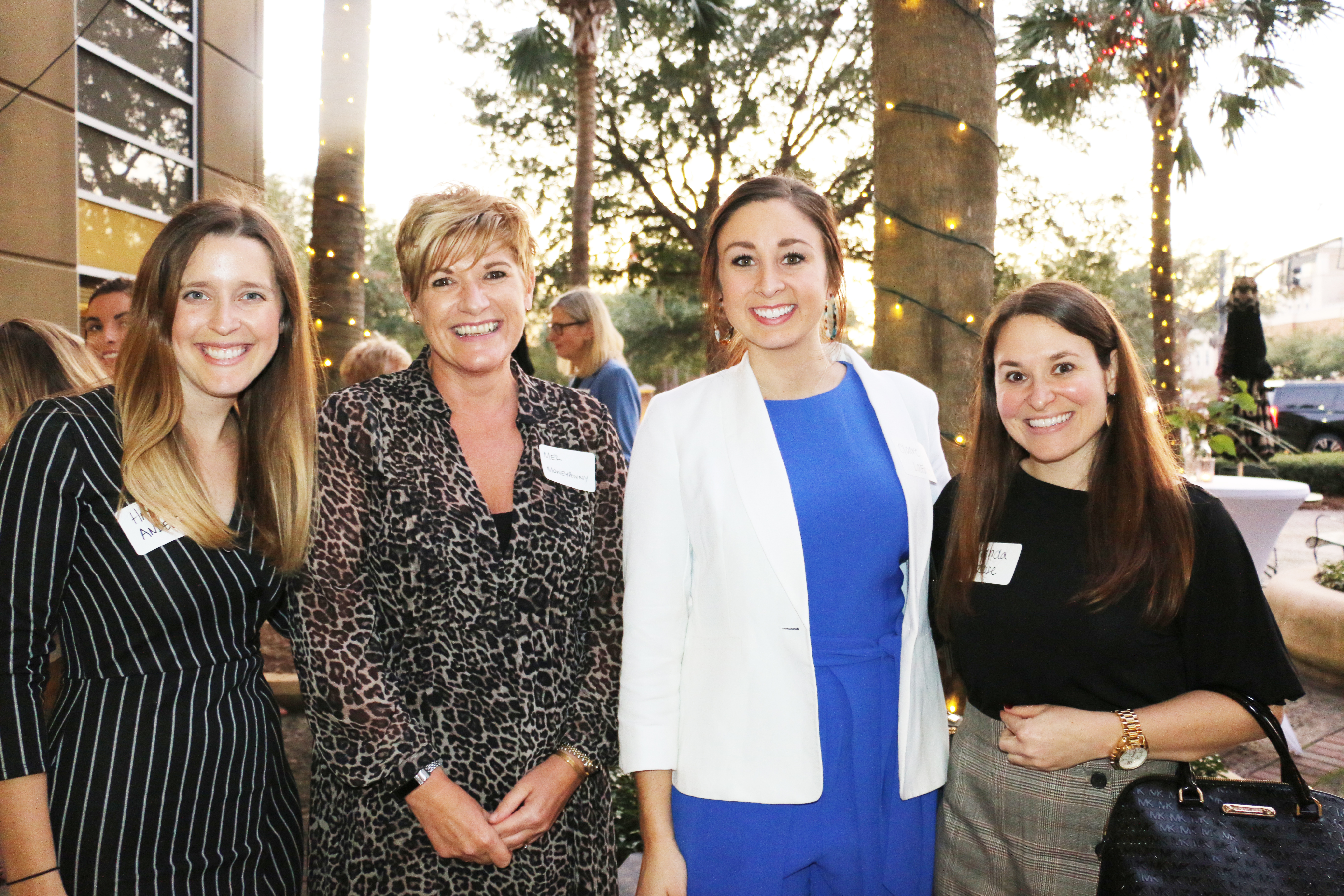 Hayley Anders of Hall Management Group, Mel Carlen of Moneypenny, and Claire LaFave and Amanda Rose of Synovus spend some time together at the first AWE Networking Group meeting held last week on Daniel Island.