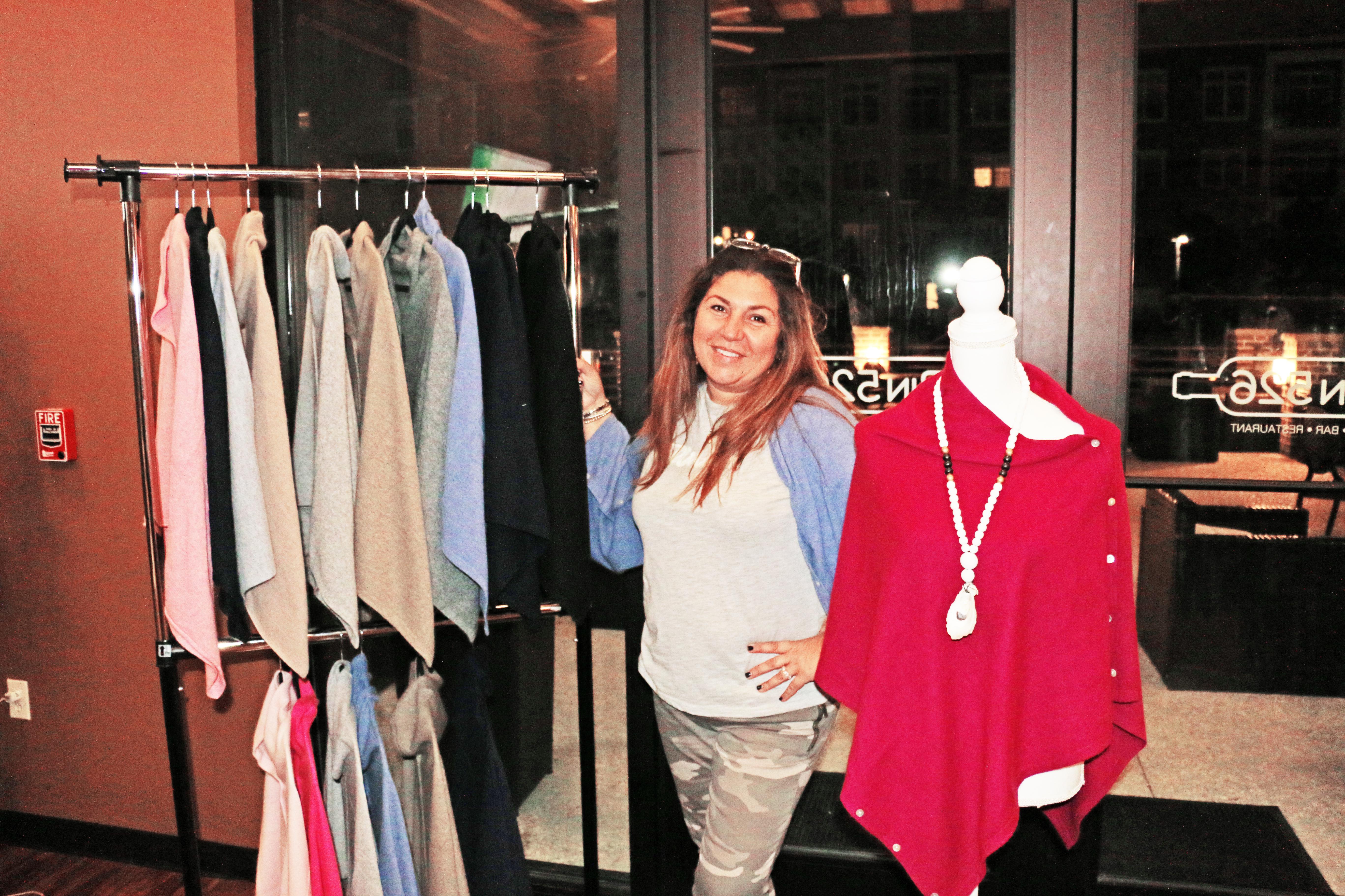 Elli Javaheri, owner of wear it & wander, was one of several vendors who participated in Sip & Shop at BIN 526 last week.