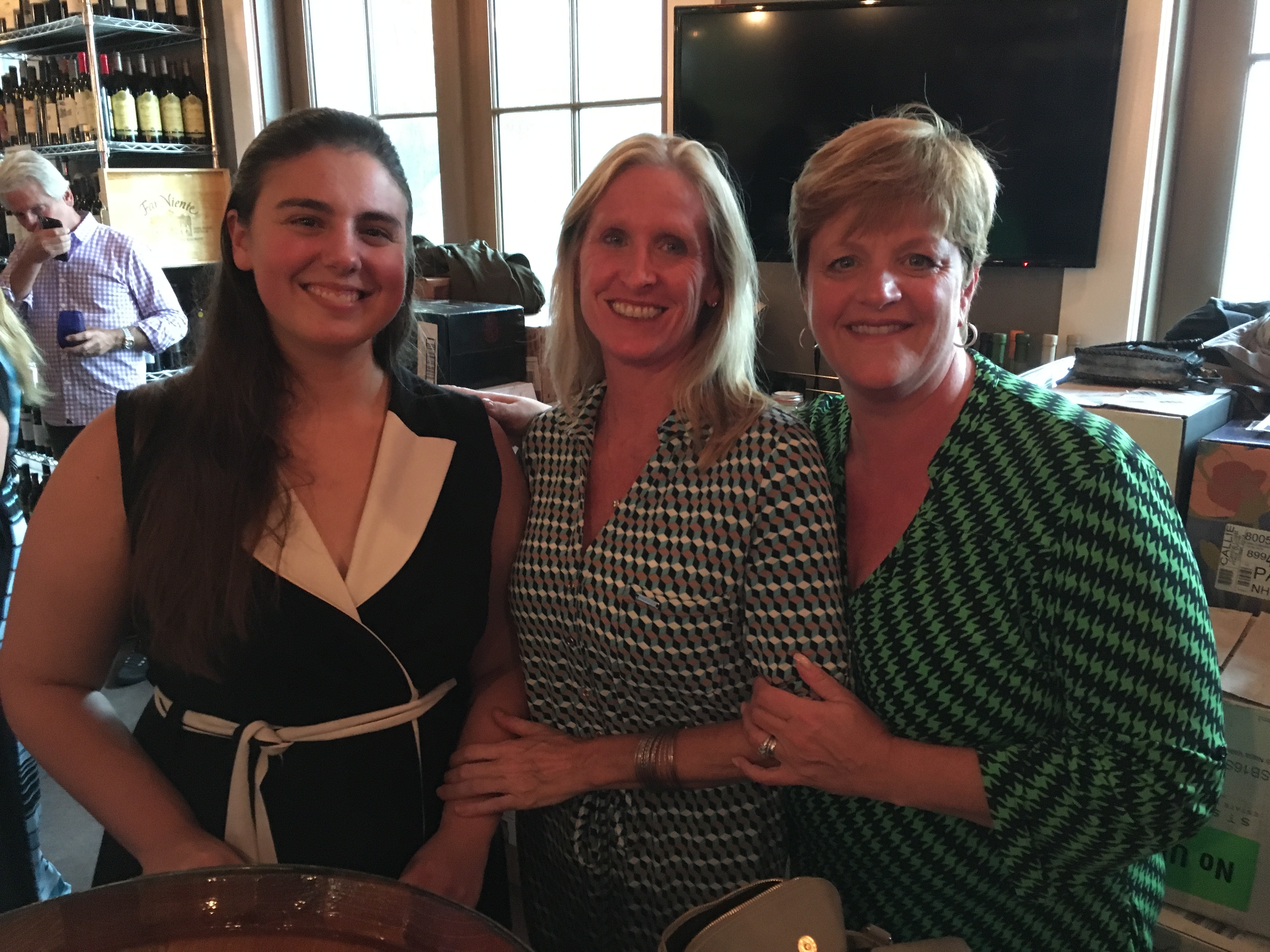 Kelly Denton, a local dance instructor, Crystal Klimavicz and Terry Haas, who serves on both the DIPAC Board of Directors and Advisory Committee.