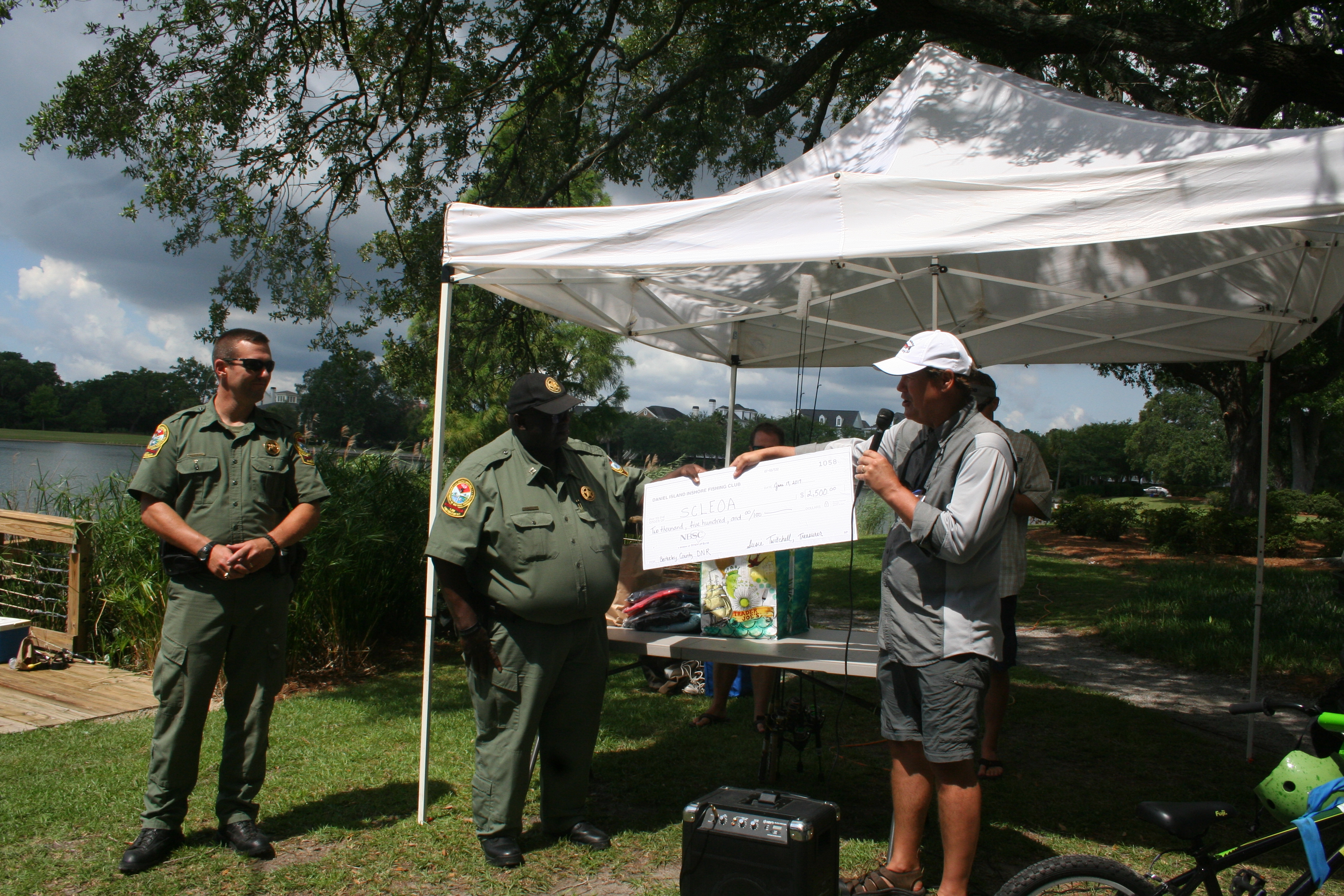 The Department of Natural Resources (Berkeley County) was the beneficiary of $2500 from proceeds raised by the fishing tournament.