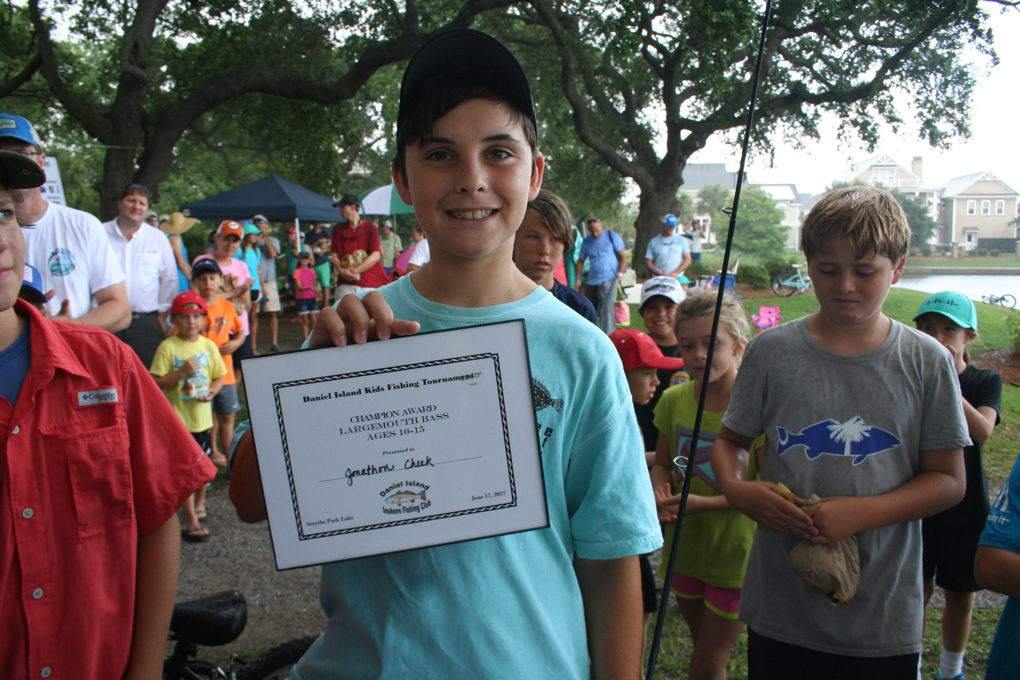 In the Largemouth Bass 10-15 year old age category, the Champion Award went to Jonathon Cheek. The first runner-up was Ben Jacobs.