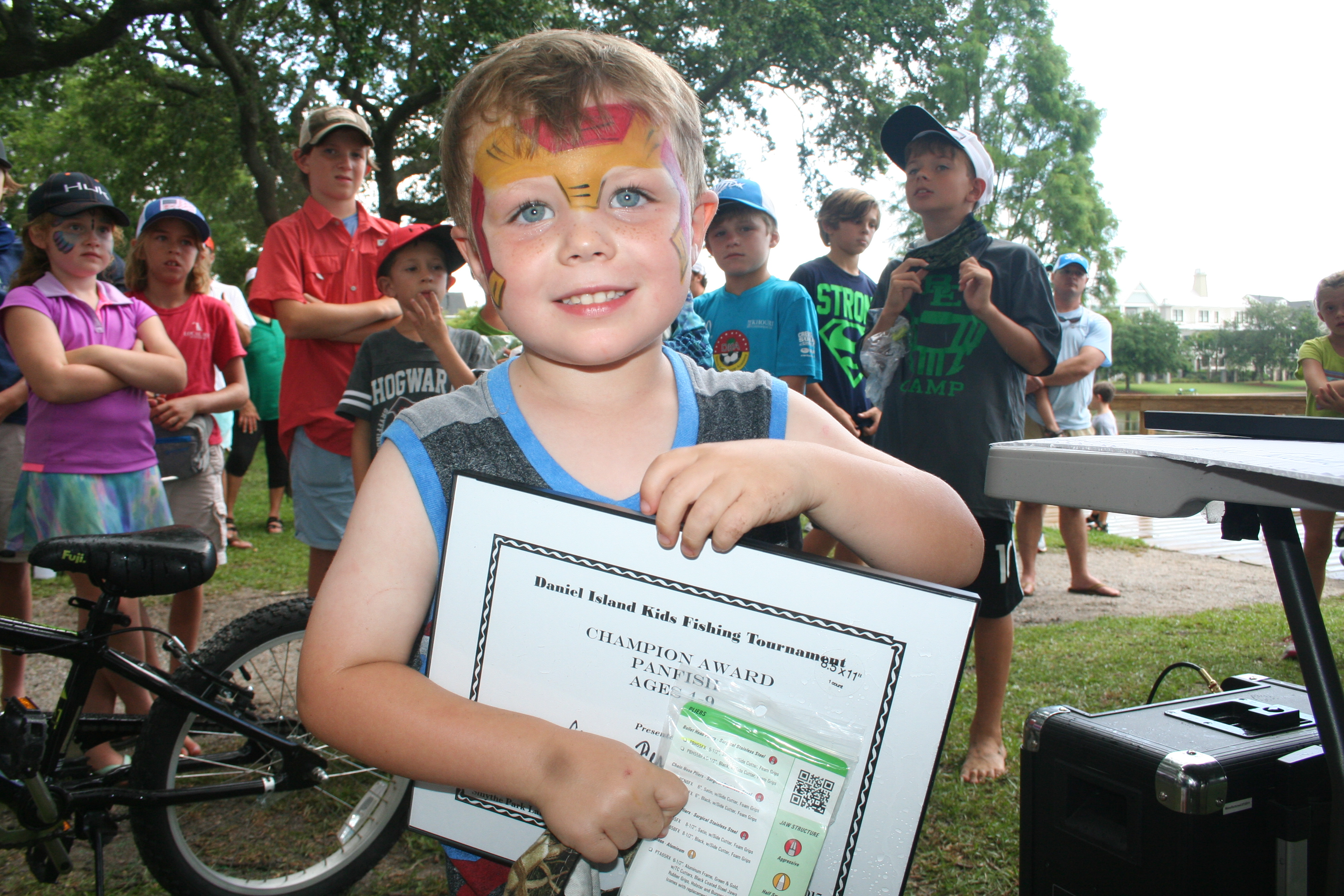 The Champion Award in the Panfish category for 4-9 year olds went to Camp Ferguson for his 8 inch fish. The first runner up was Jason Chalupsky and the second runner up was Josh Ray.