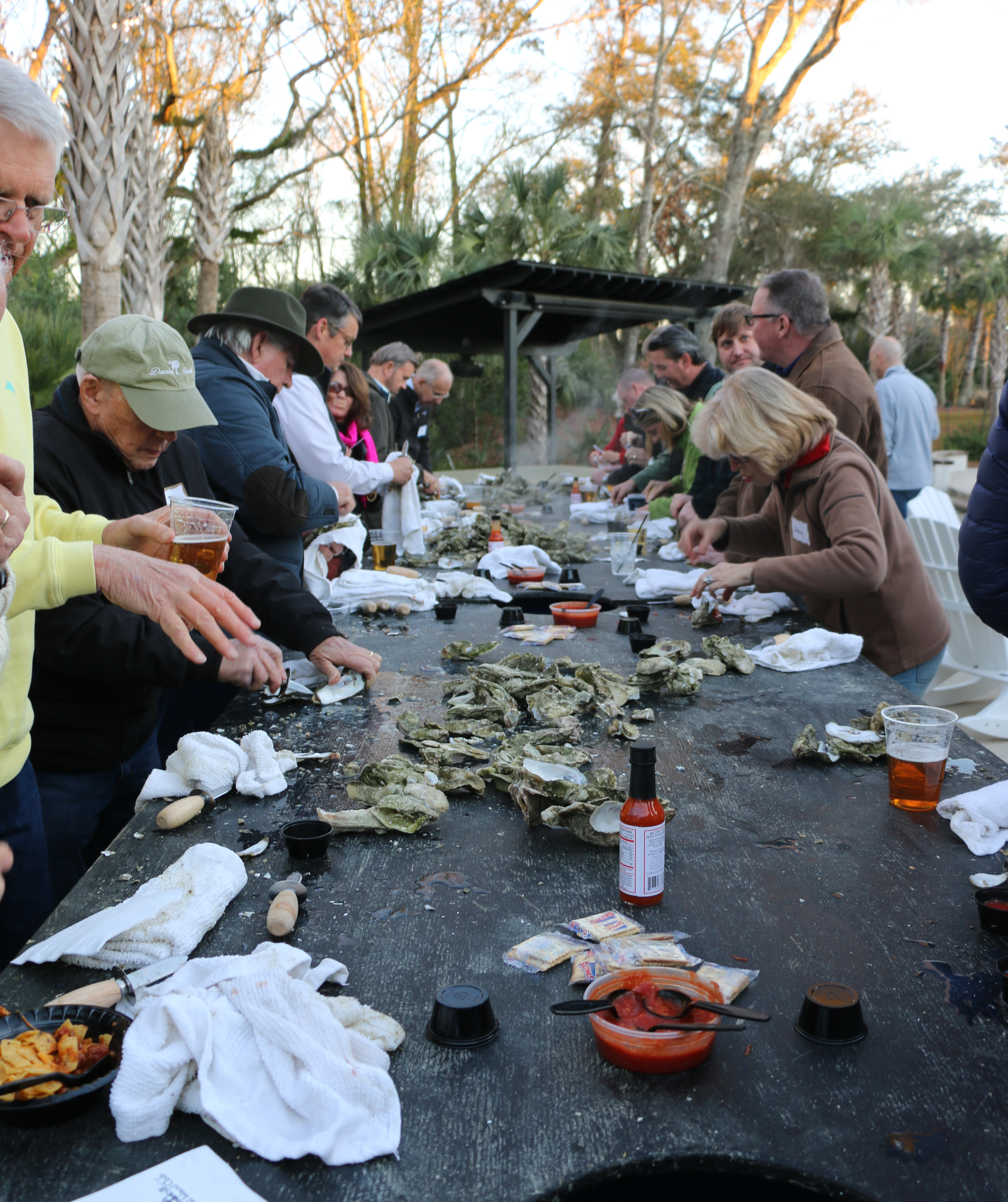 Members of the Daniel Island Rotary Club and the Daniel Island Business Association mingled and devoured freshly roasted oysters at a joint networking event held at the Daniel Island Park Club Cabana.