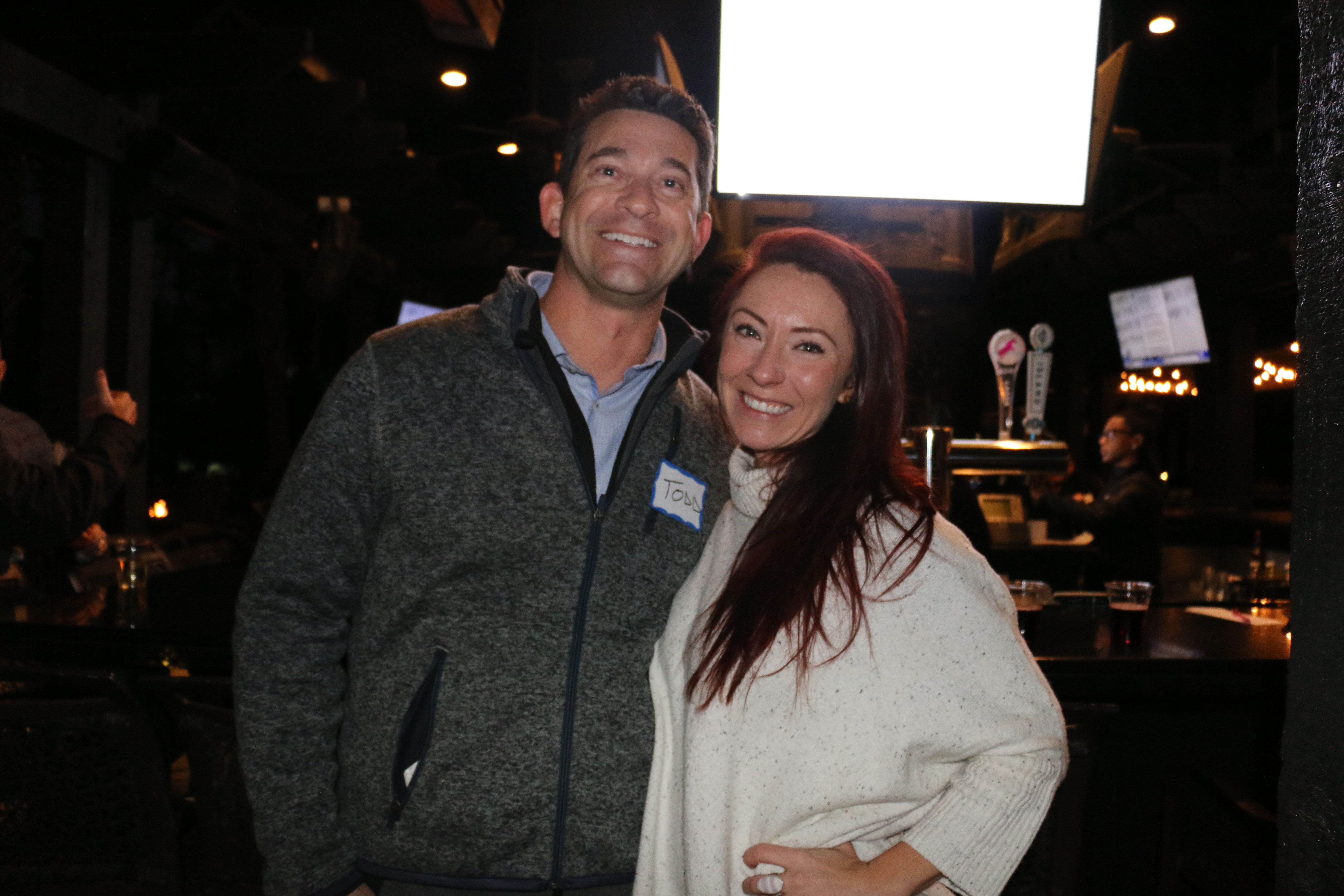 Benefitfocus business analyst Todd Vogelmann and pilot Sherri Ginger were among the many friends and associates who attended the oyster roast event held by DIBA and the local Rotary Club.