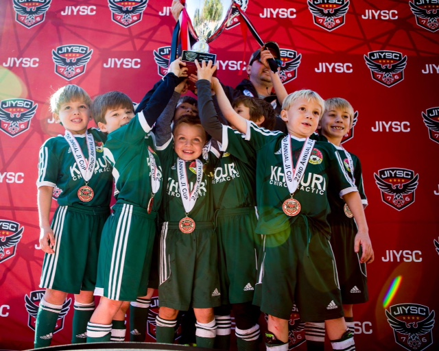 The Daniel Island Soccer Academy (DISA) U8 Timbers scored the championship trophy in their division at the James Island Cup November 19-20. Additional congratulations are in order for two other DISA teams – the U9 Rangers and U10 Ajax – for being finalists in the tournament.