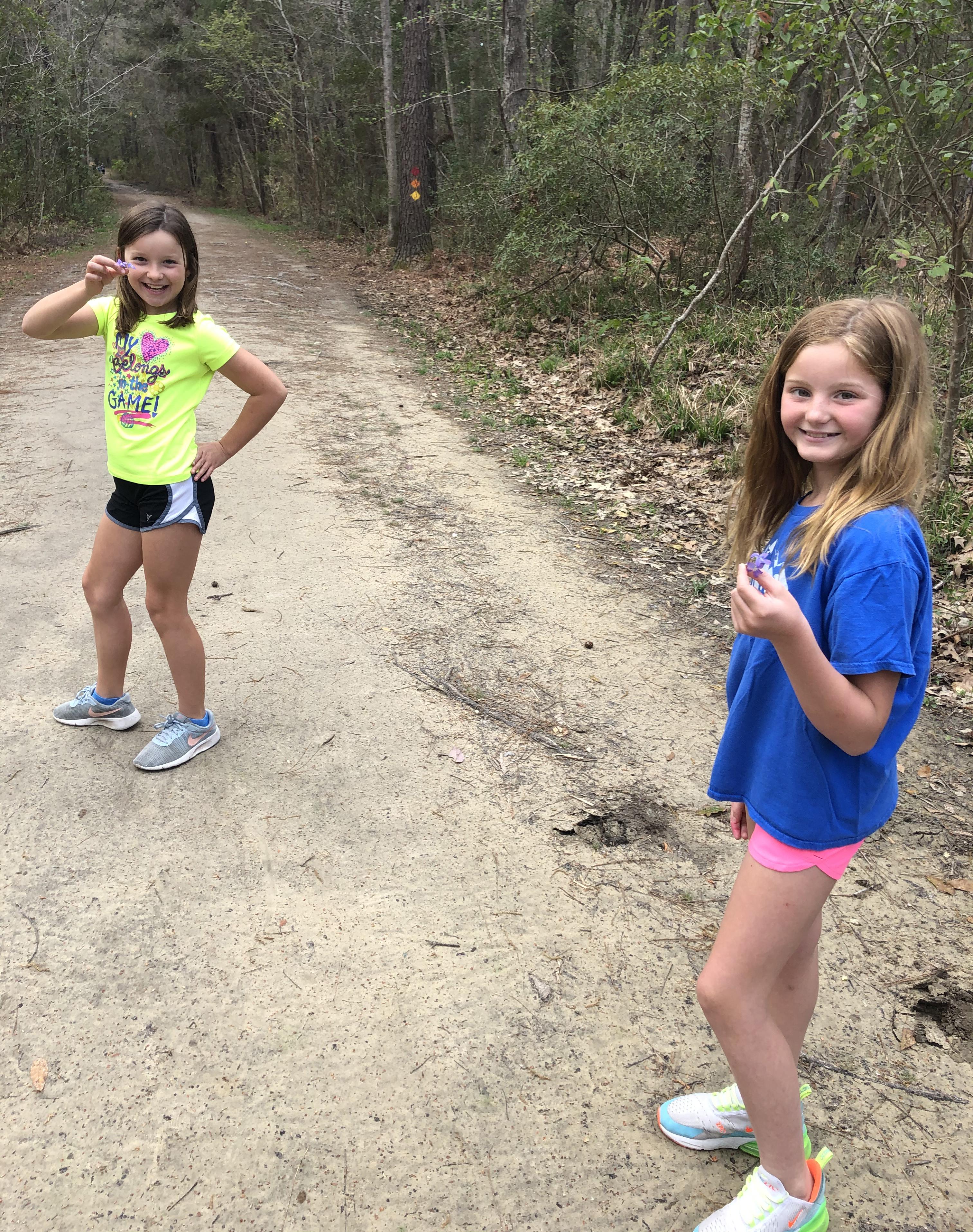 Lilah Kowalski and Lilah May take a social distancing nature walk.
