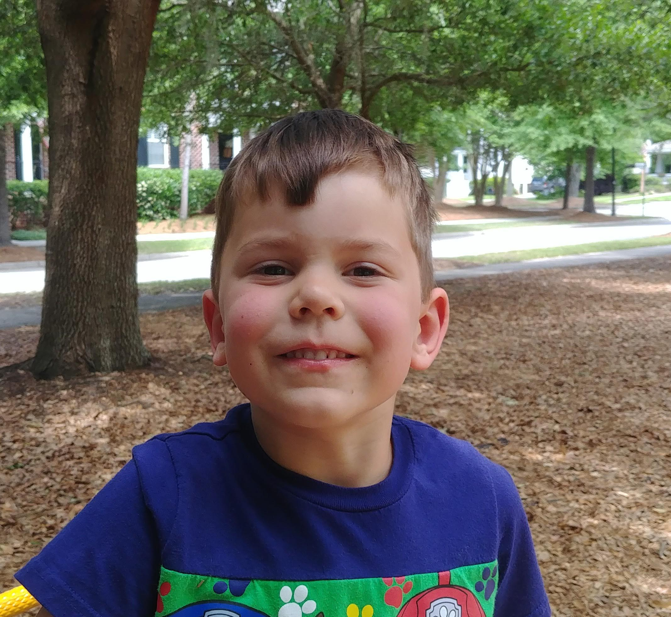 I would be a dog superhero because they can bark really loud.  James  Age 5  Summerville