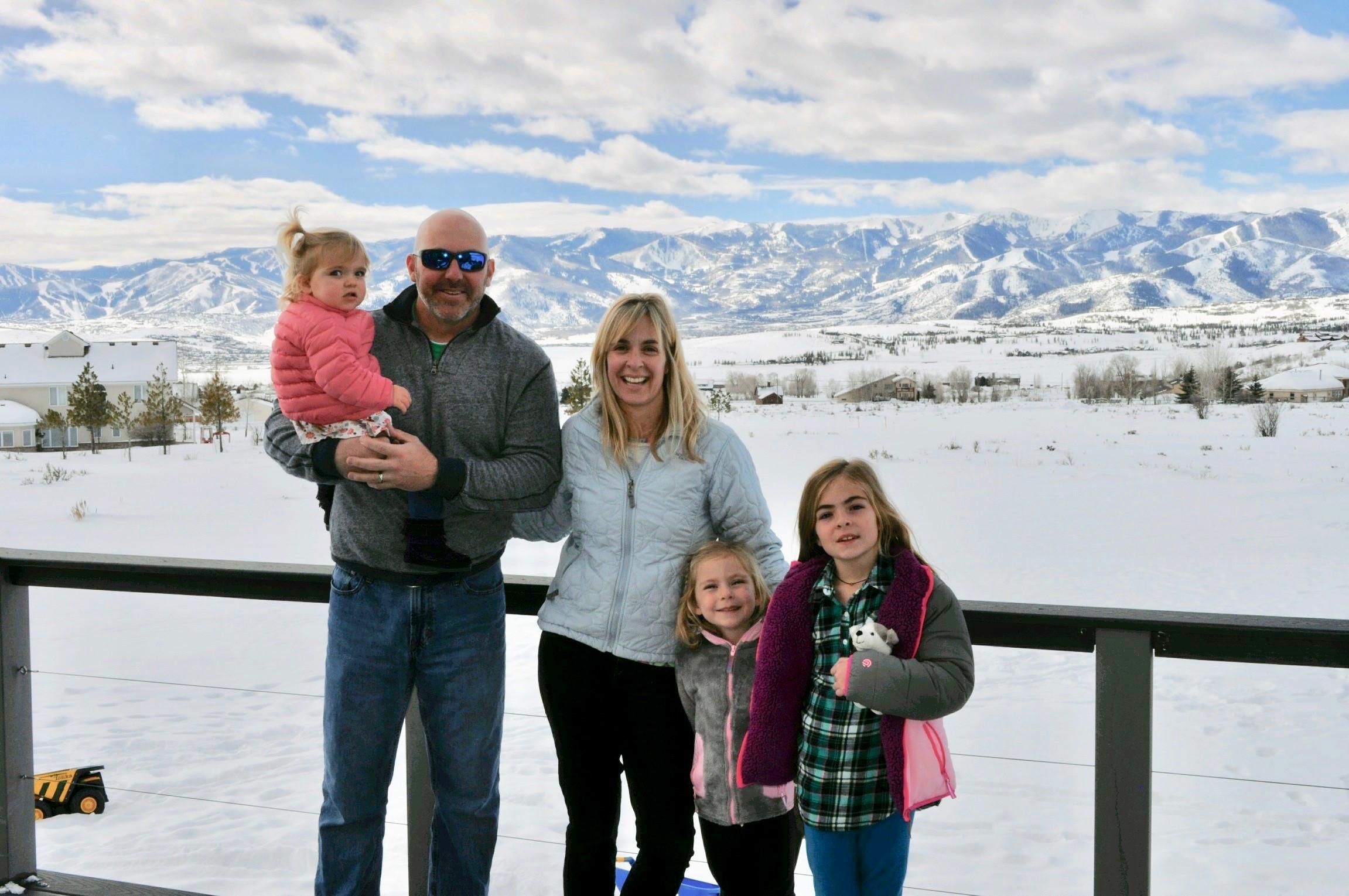 Duck Race winner Karl Morris and his family.