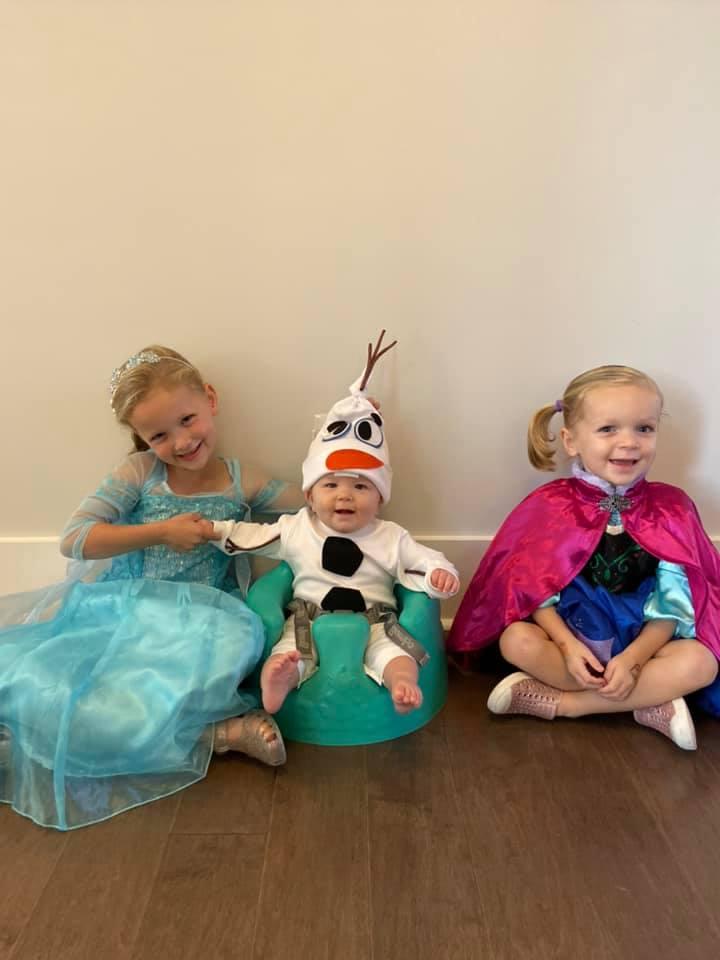 Kate Oswald, 5, Charlie Oswald, 7 months, and Caroline Oswald, 3.