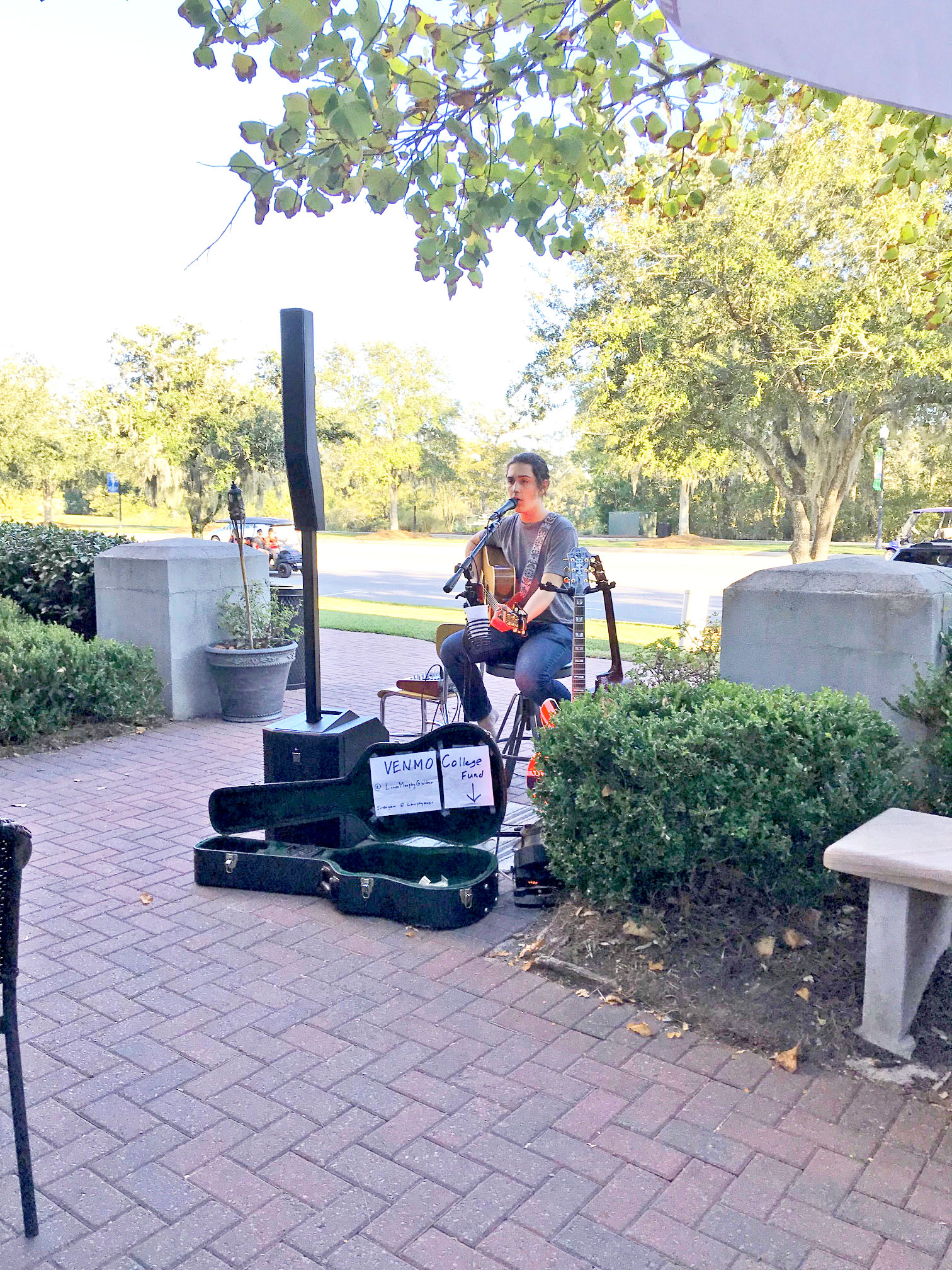 Liam Murphy performed live music at Vespa's 10-year anniversary party.