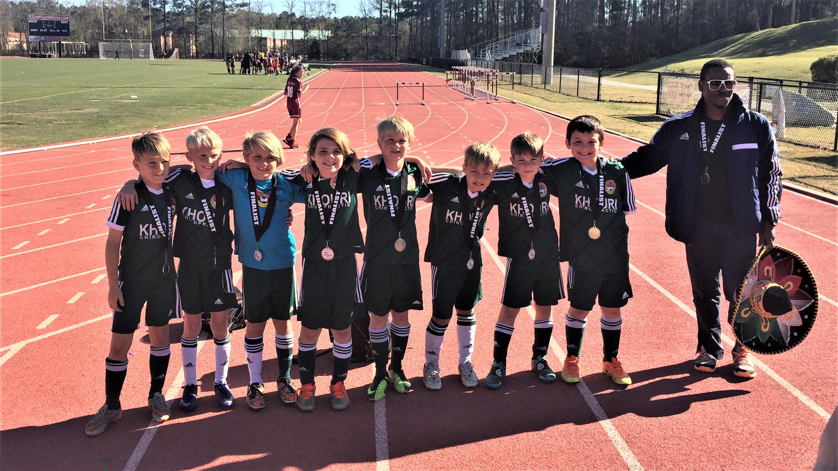 U10 Liverpool (DISA) Left to right: Max George, Lars Meeker, Corbin Driggers, Sean Herndon, Robby Ryan, Miles Surratt, Reed Swanson, Brody Tonon, and Coach Robert Naskahare.
